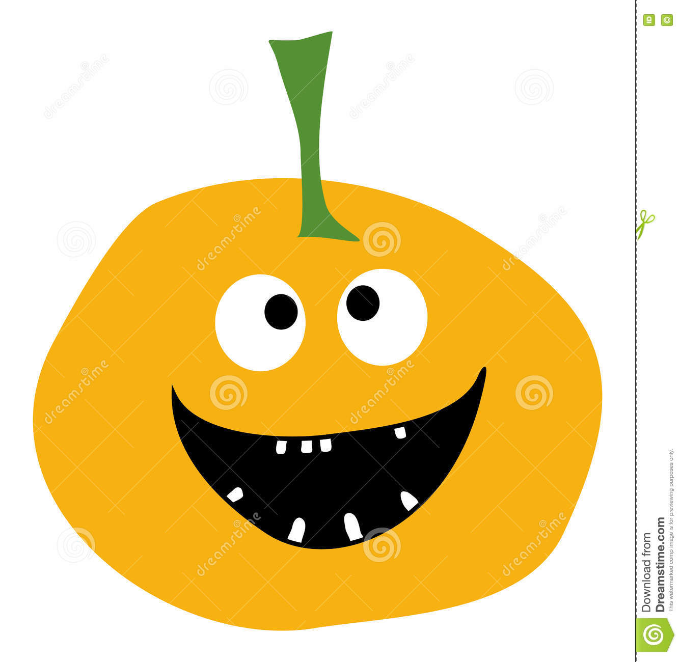 Smiling Pumpkin on a white background Halloween pumpkin icon Pumpkin icon vector Yellow Pumpkin Simple flat style design Pumpkin