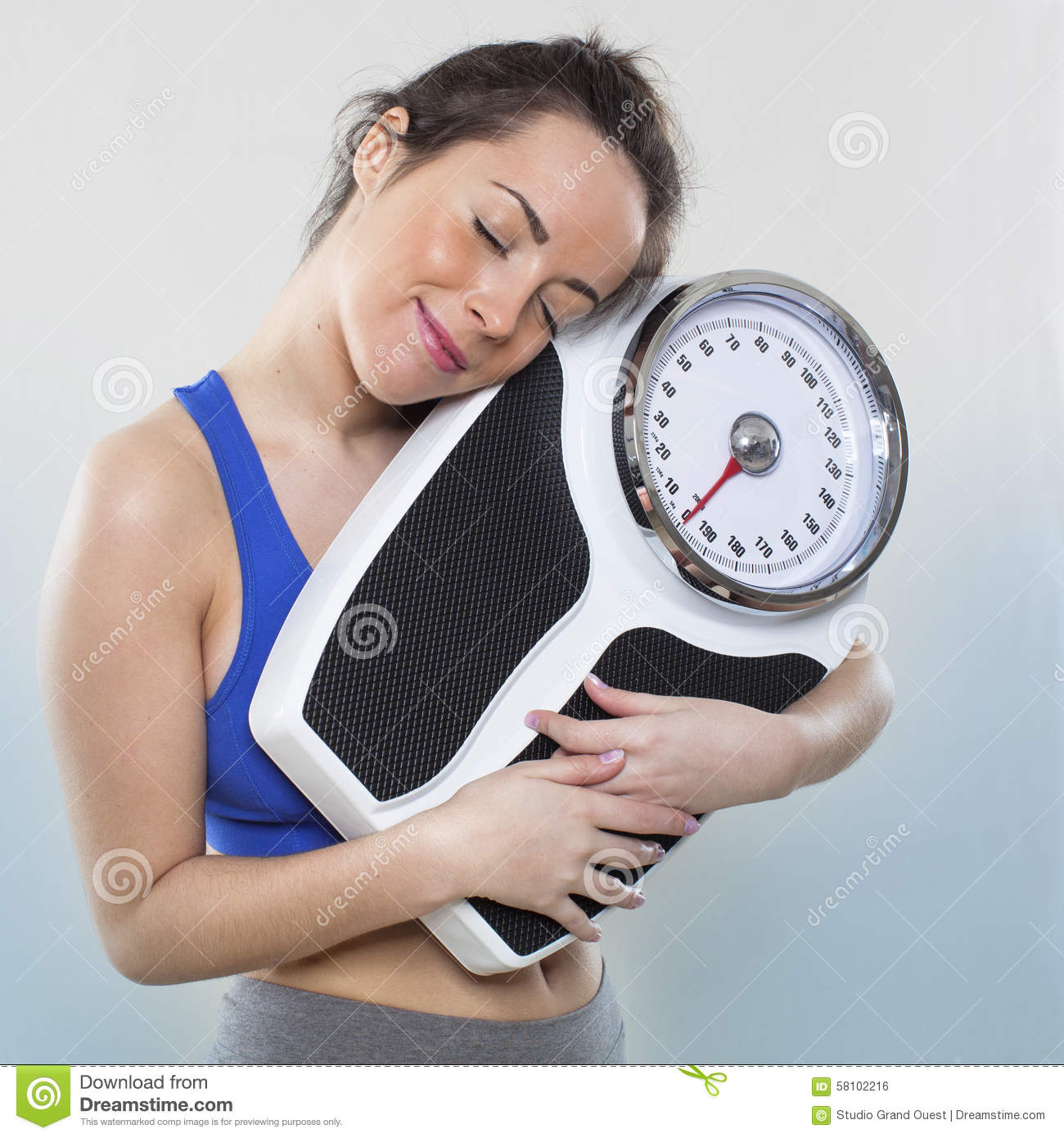 Smiling 20s Girl Taking Care Of Her Kilos Or Pounds With Her Wellness Best Friend