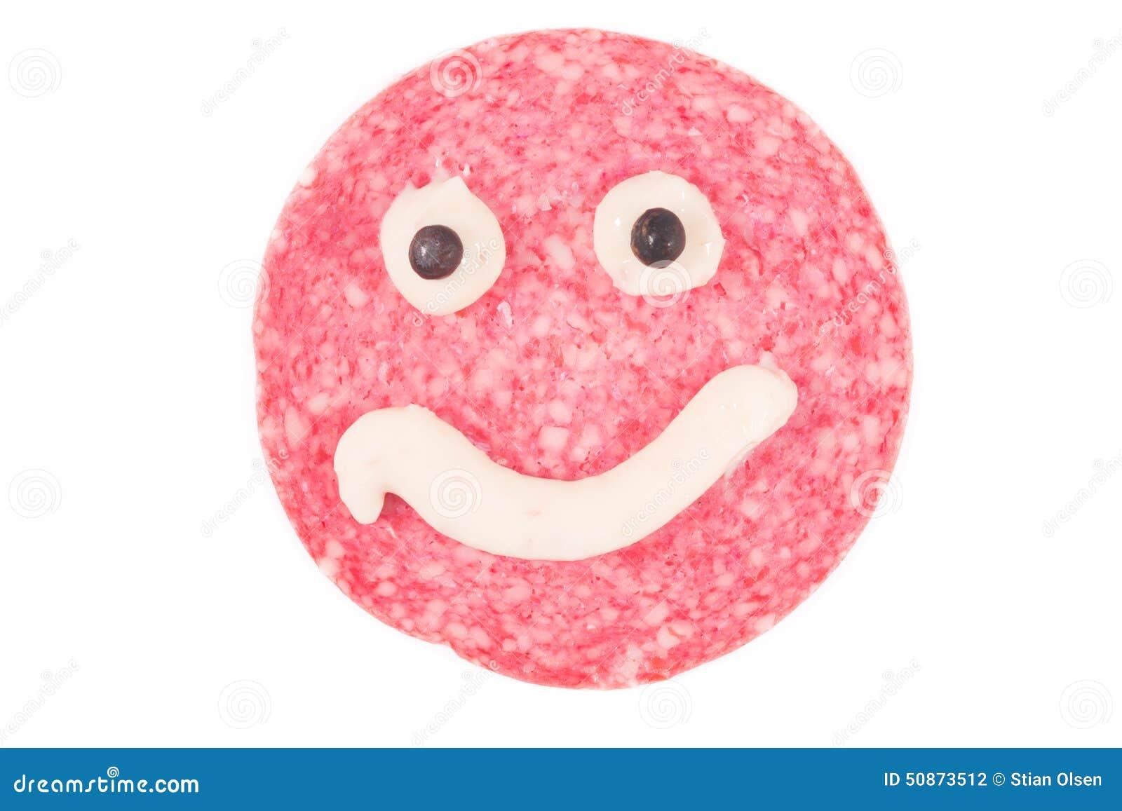 smiling salami stock photo image of mouth sausage meat 50873512