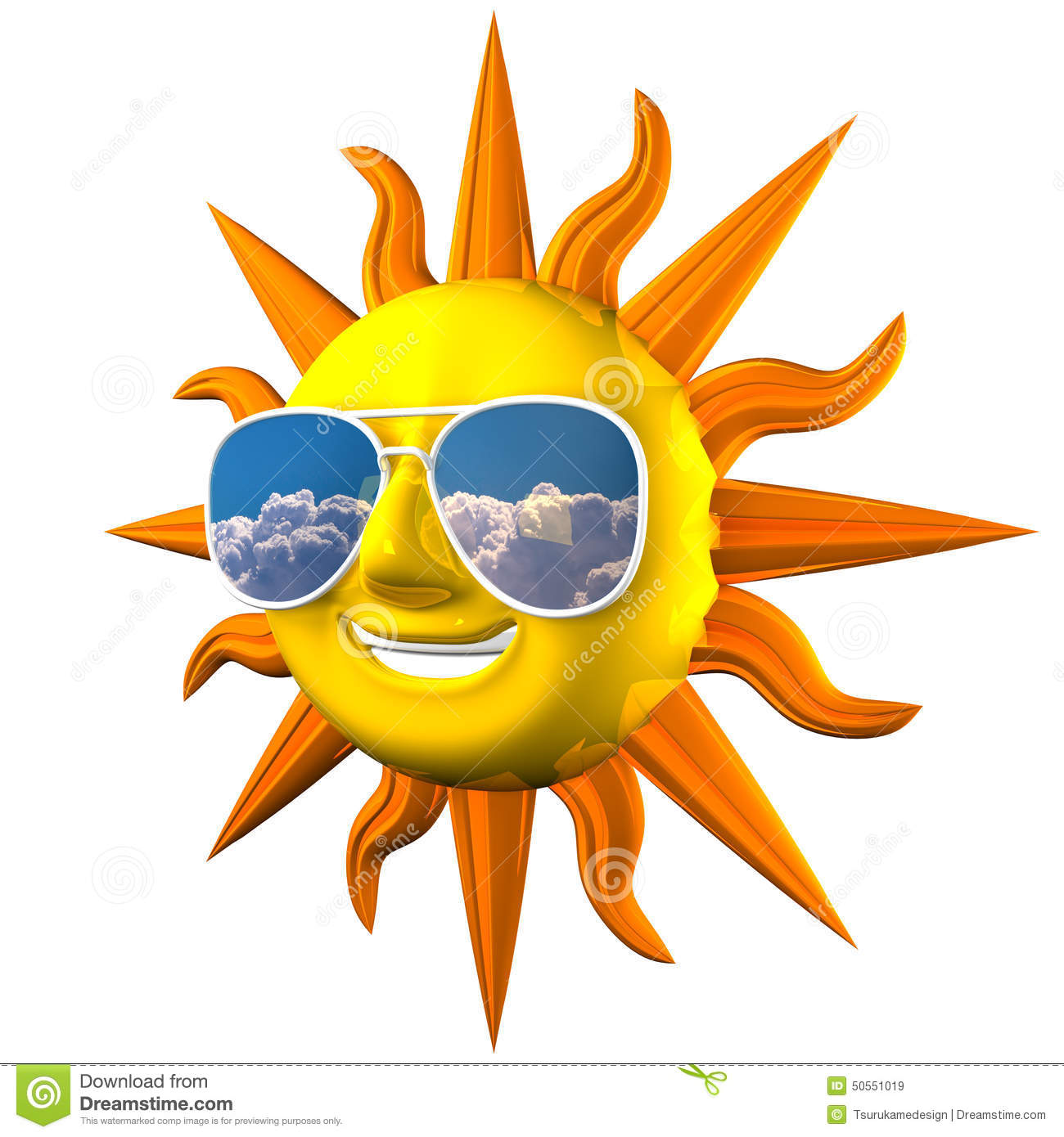 Smiling sun with sunglasses - Royalty Free Illustration Download Smiling Sun With Sunglasses