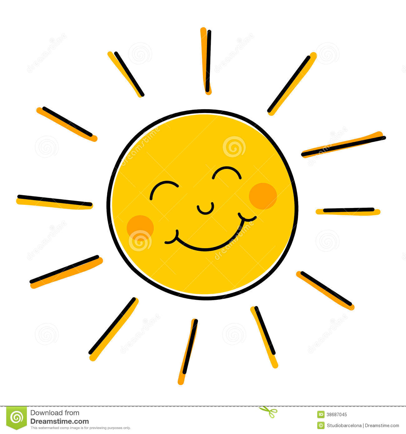 Smiling Sun Vector Royalty Free Stock Photo - Image: 38687045