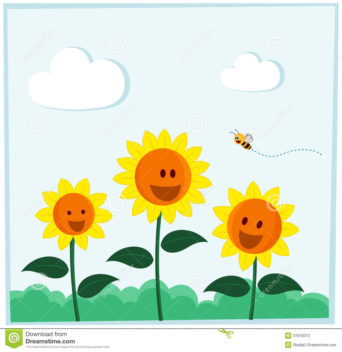 Smiling Sunflower Stock Photography - Image: 31619012