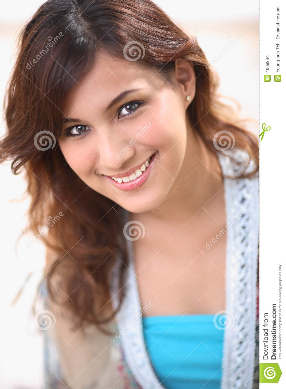 Smiling sweet woman