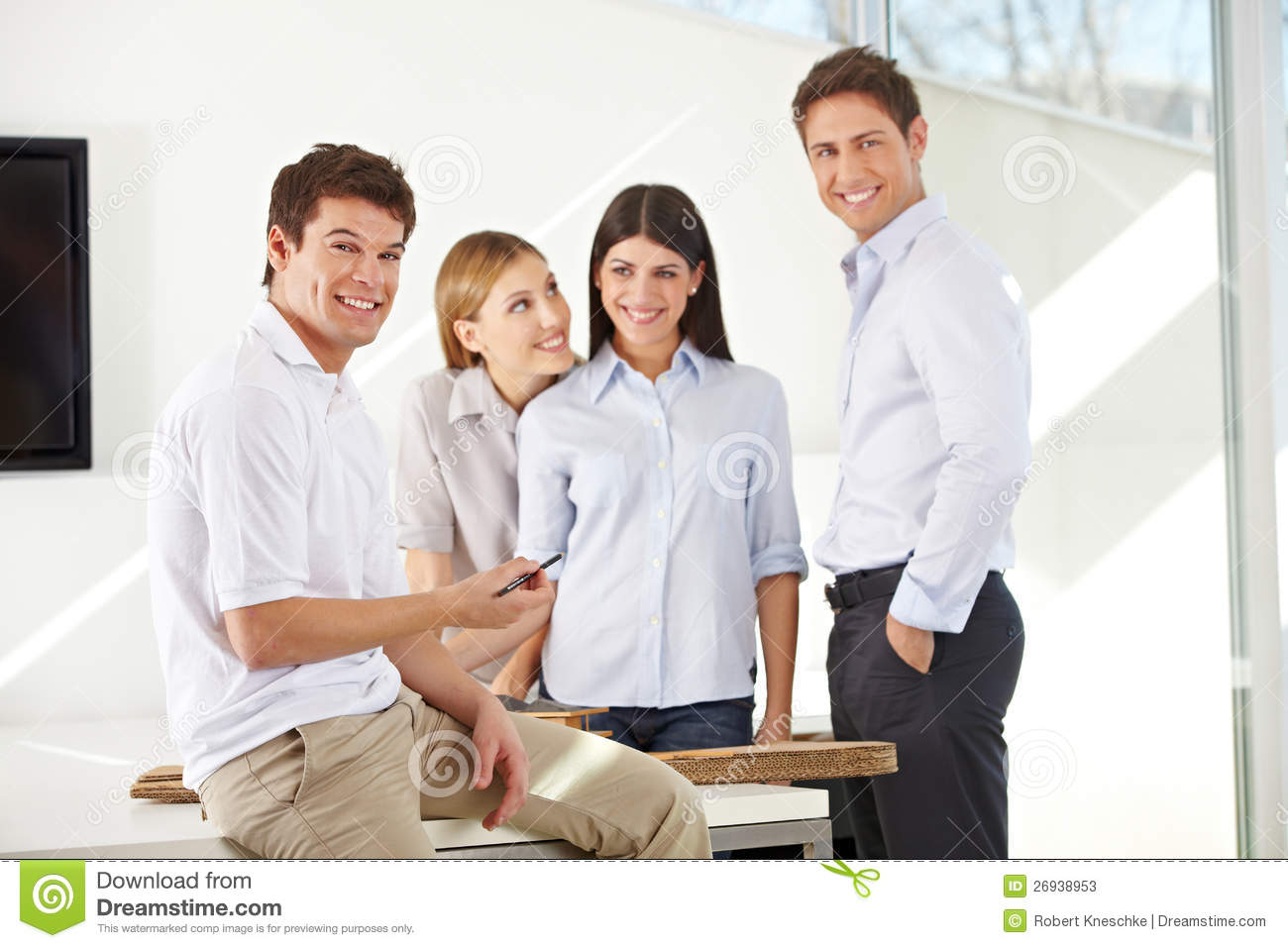 Smiling team of business architects