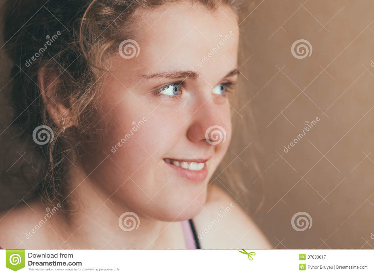 Smiling Teen Girl stock image  Image of beauty, close - 37030617