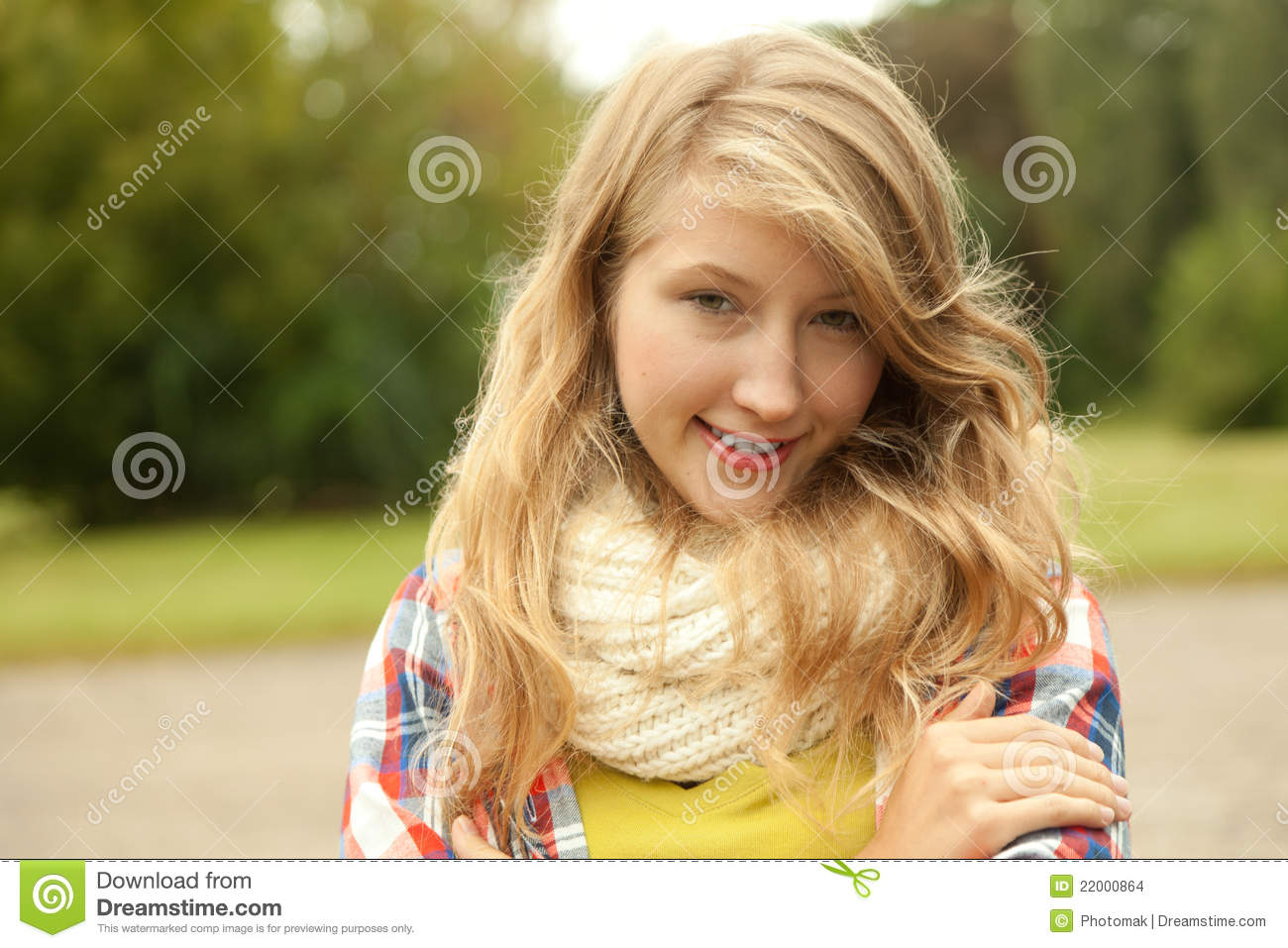 Smiling Teenage Girl Stock Photo Image Of Beautiful
