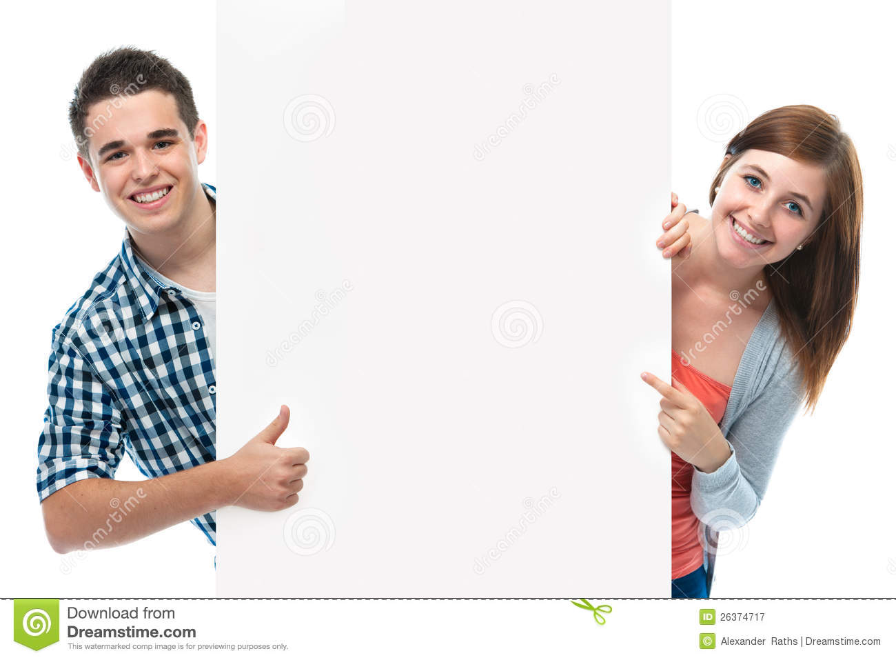 Group Of Happy Smiling Teenagers. Isolated White Background, Young ...