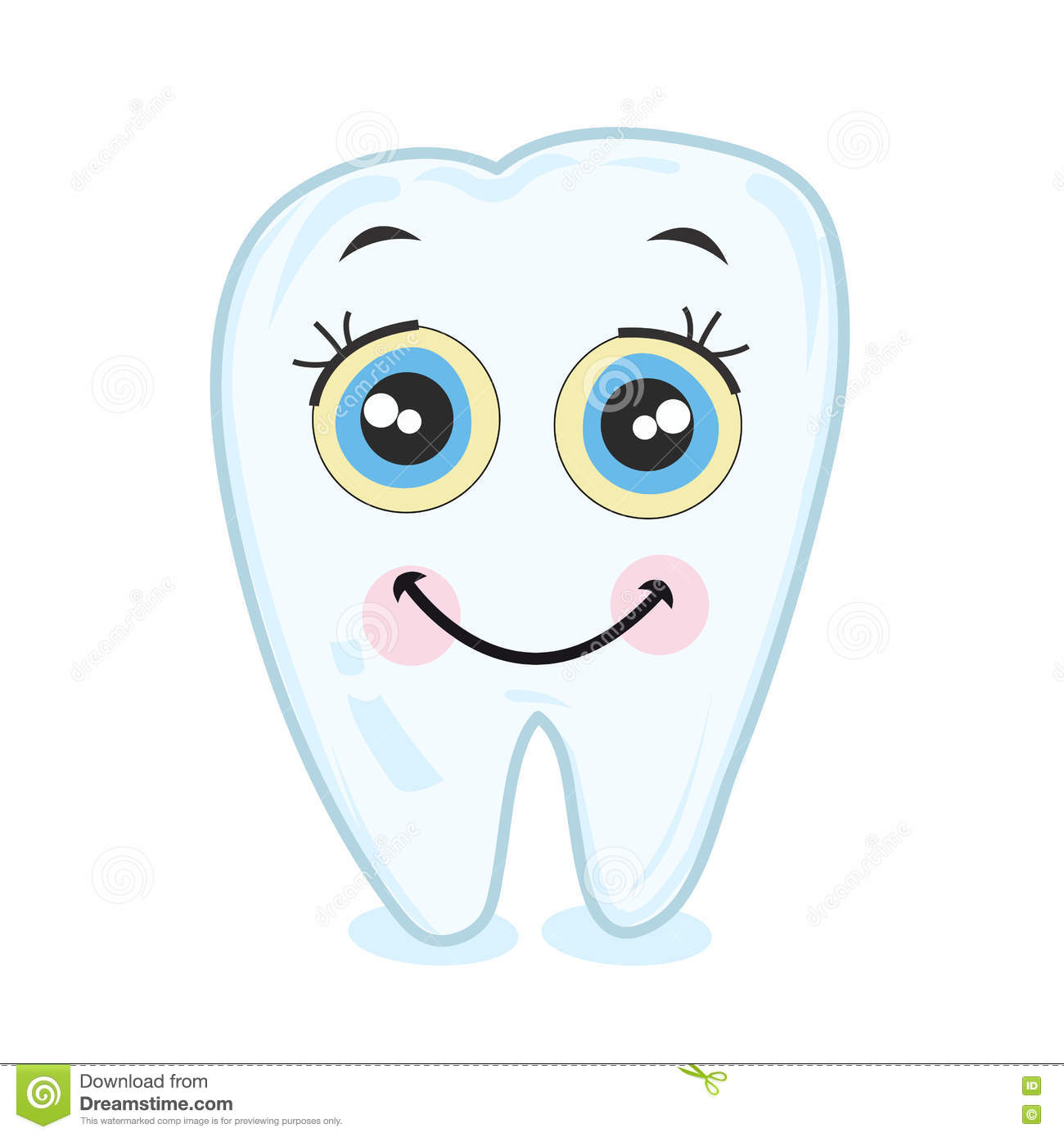 Teeth smiling coloring page