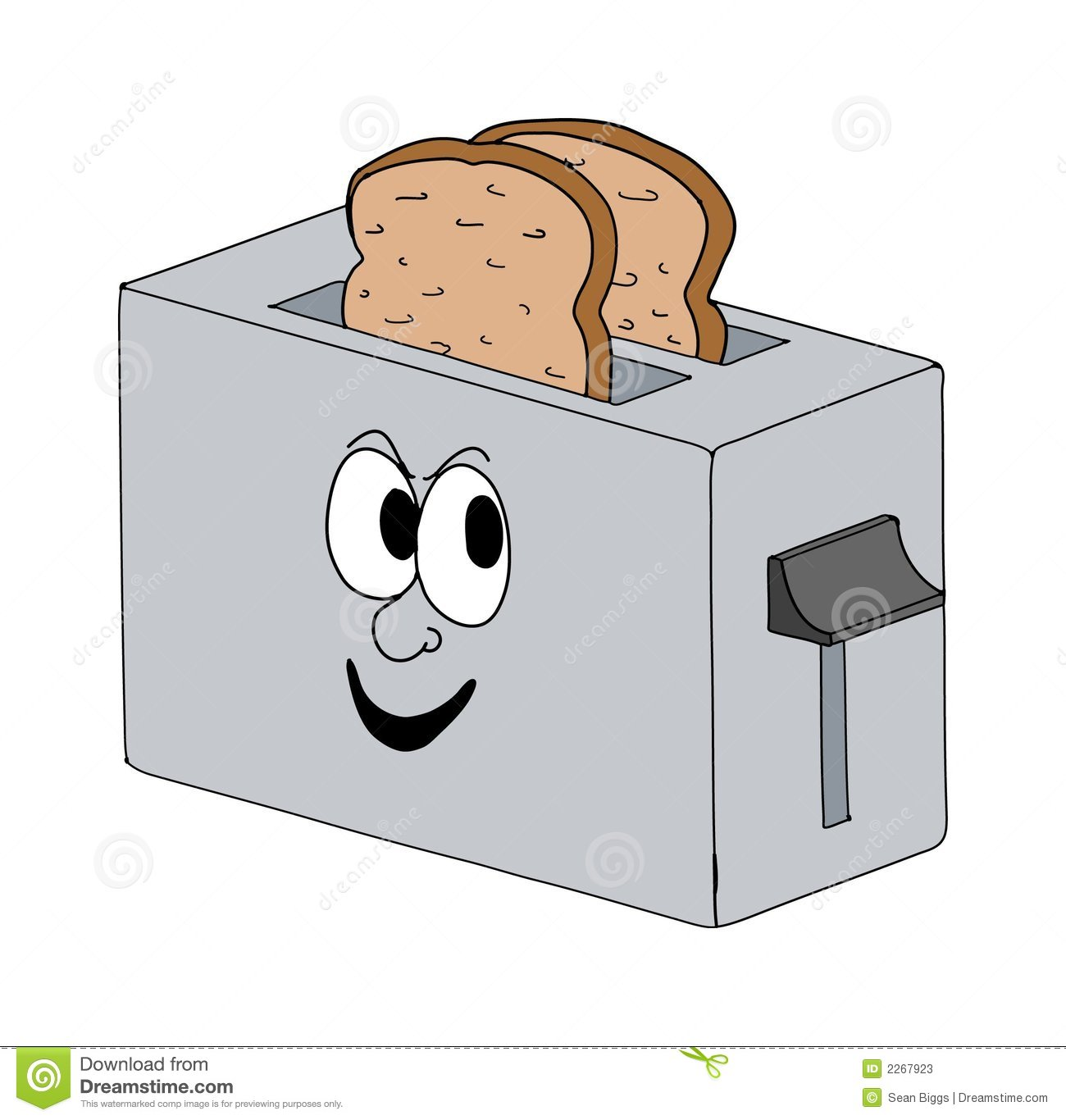 Toaster Clip Art ~ Smiling toaster stock illustration image of cartoon