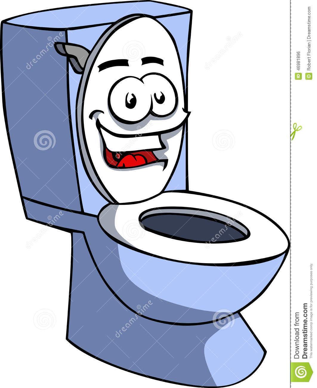 Smiling Toilet Stock Vector - Image: 46981896