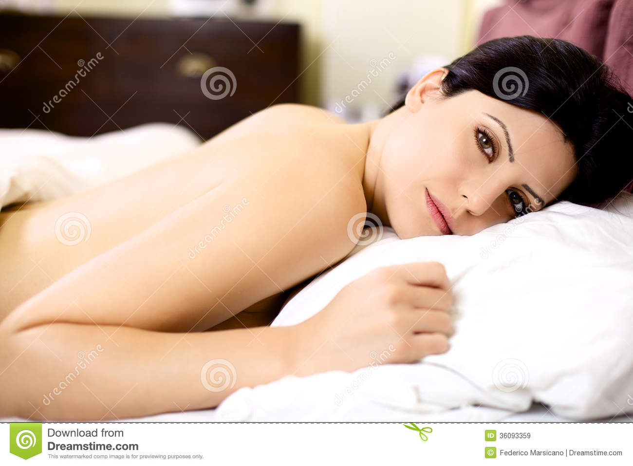 Logically Happy women naked in bed confirm