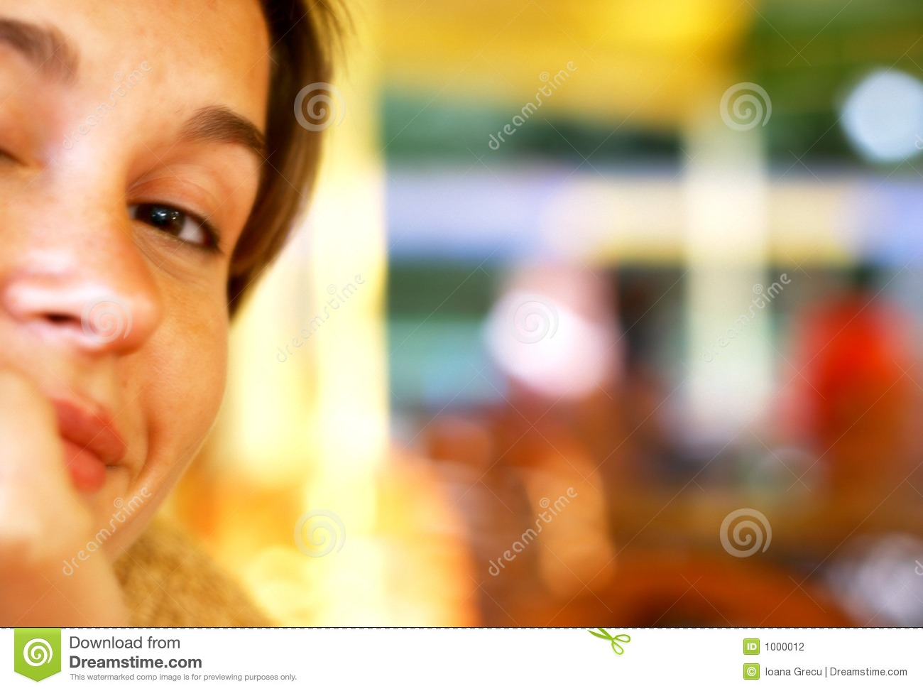 Smiling woman at the coffee shop