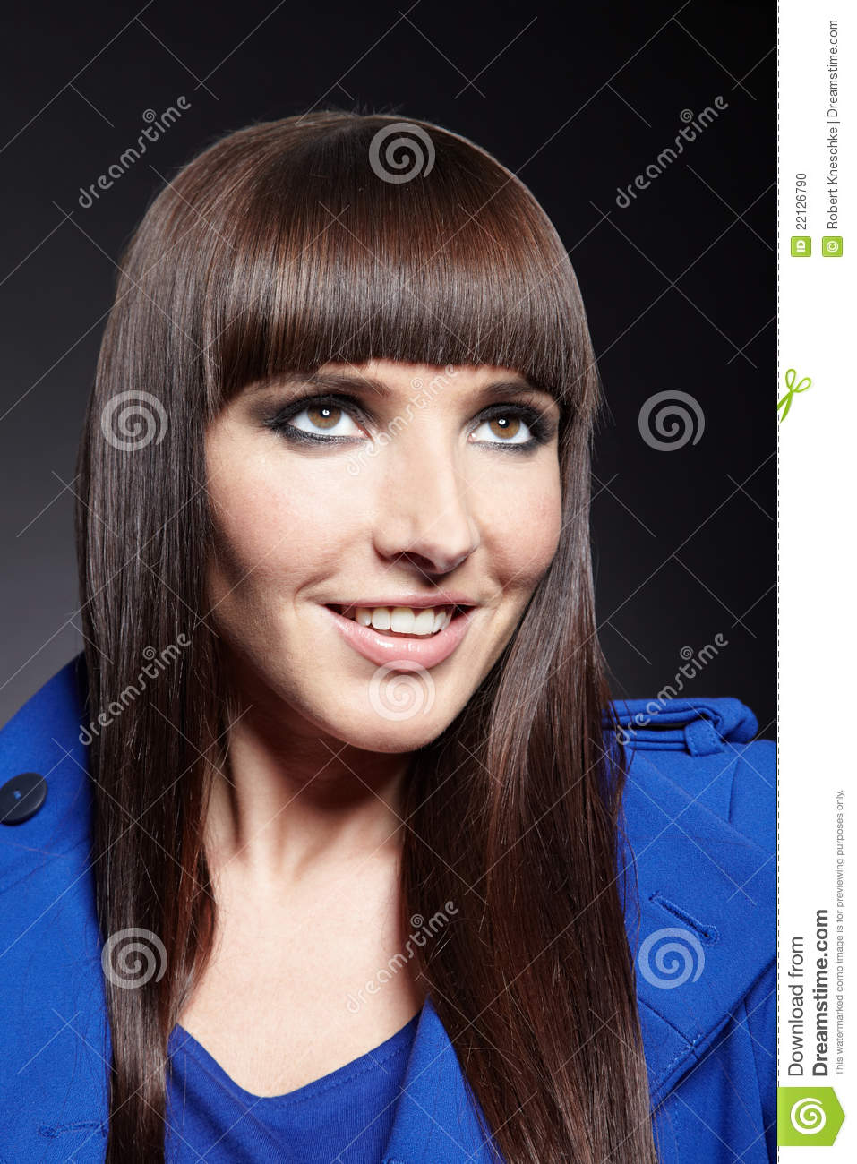 Smiling Woman With Pageboy Haircut Stock Photo Image Of Hope High