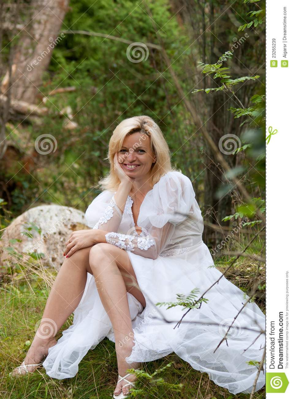 Smiling woman in the woods royalty free stock images image 23265239