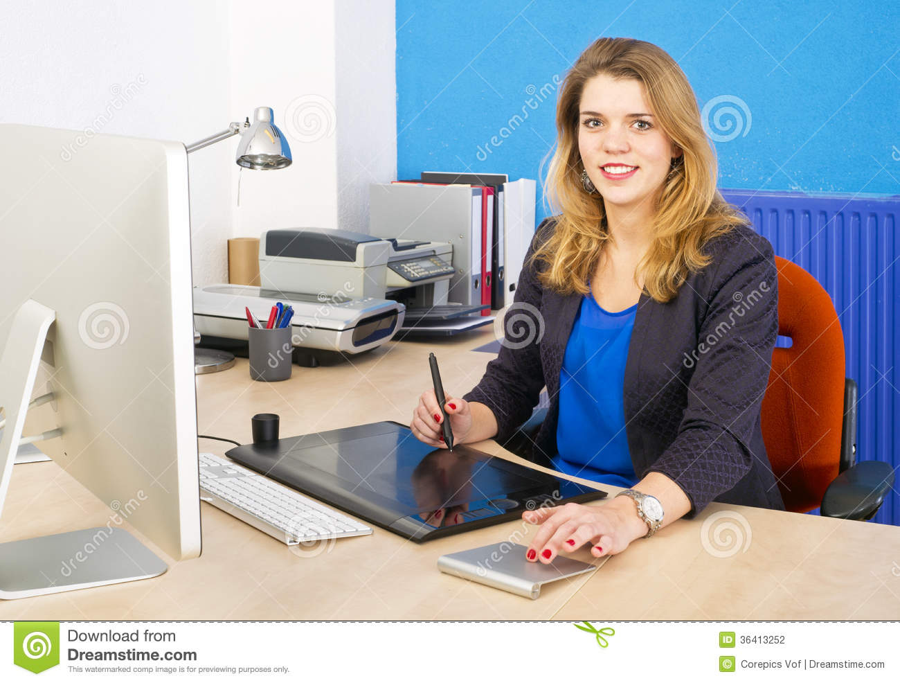 Smiling Woman At Work Stock Photography - Image: 36413252