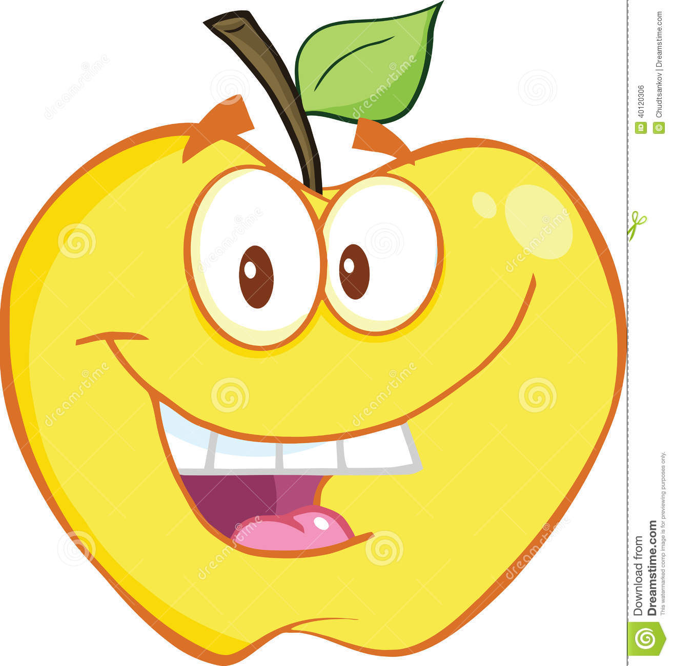 free smiling apple clipart - photo #16
