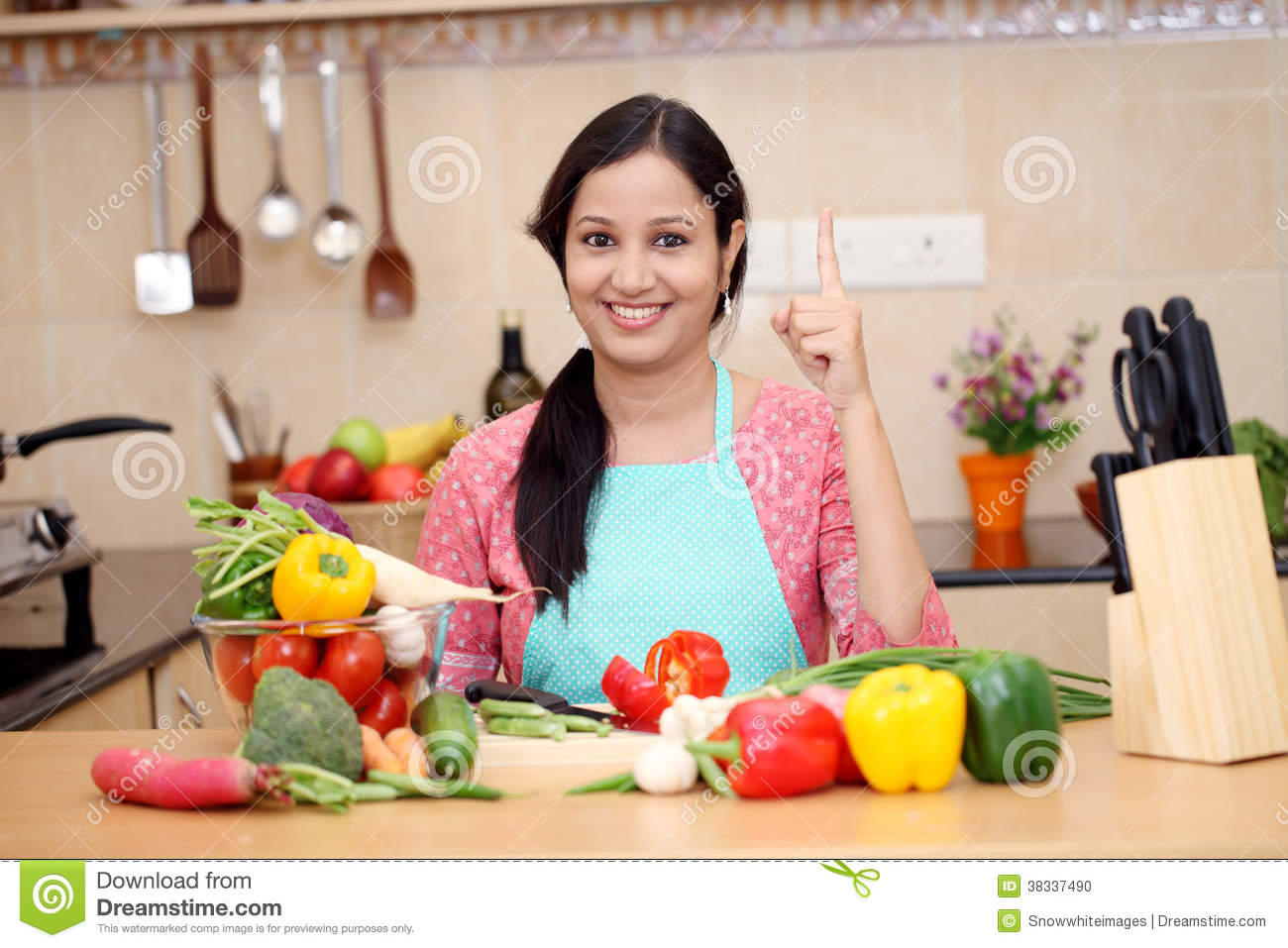 Smiling Young Indian Woman Stock Photo Image Of Living 38337490