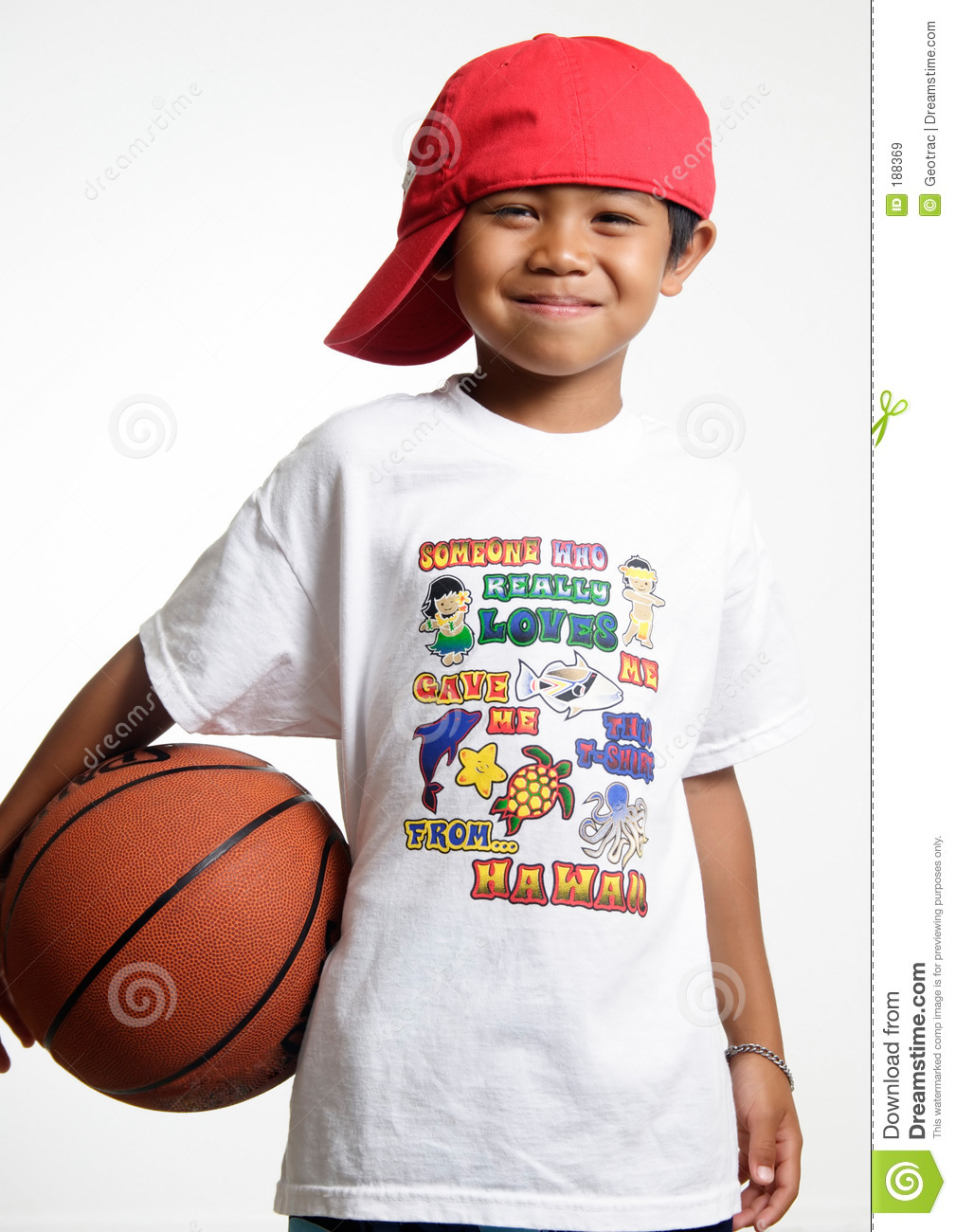 Smiling Young Lad Holding His Basketball Royalty Free ...