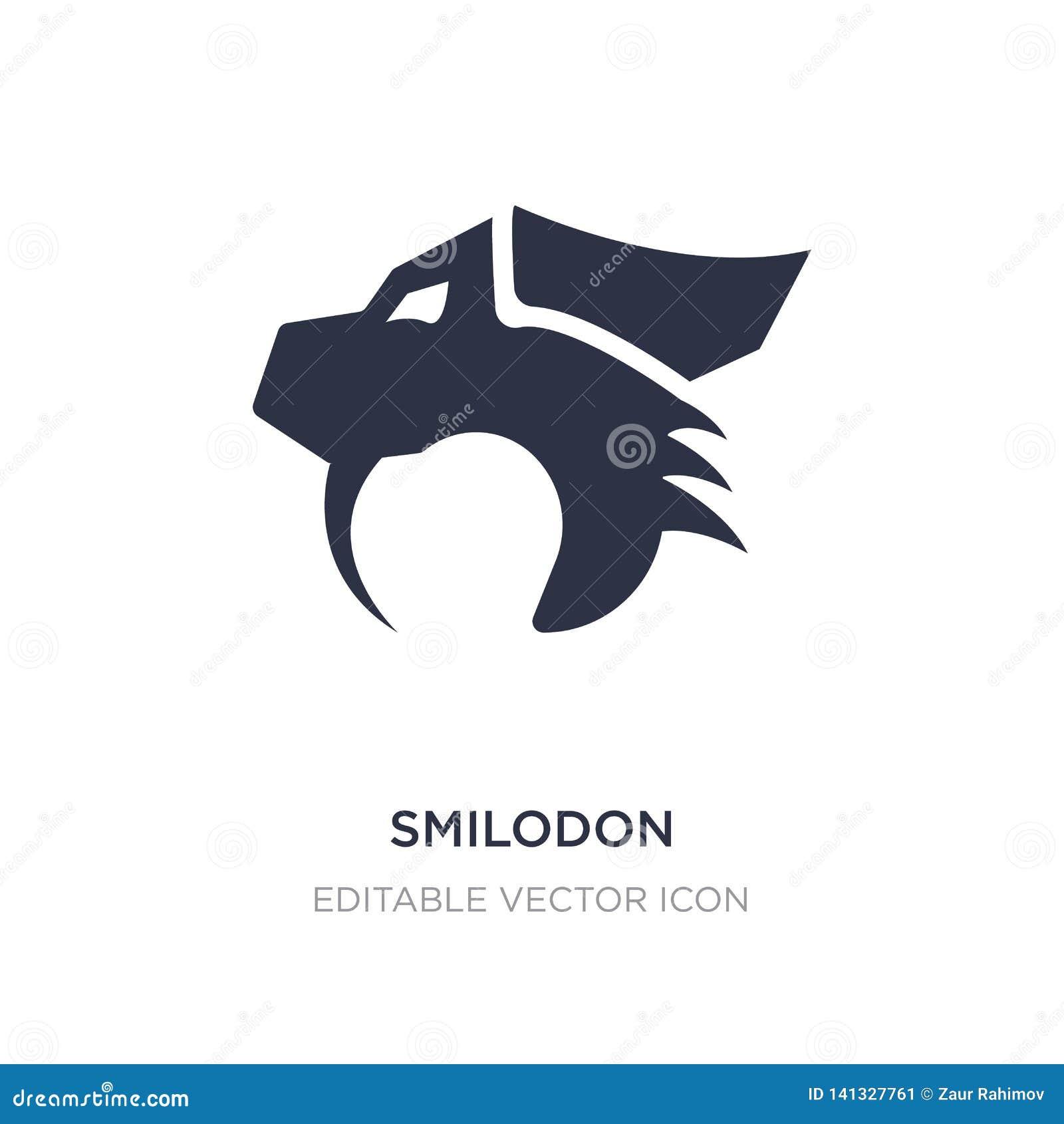 Smilodon pictogram op witte achtergrond Eenvoudige elementenillustratie van Dierenconcept