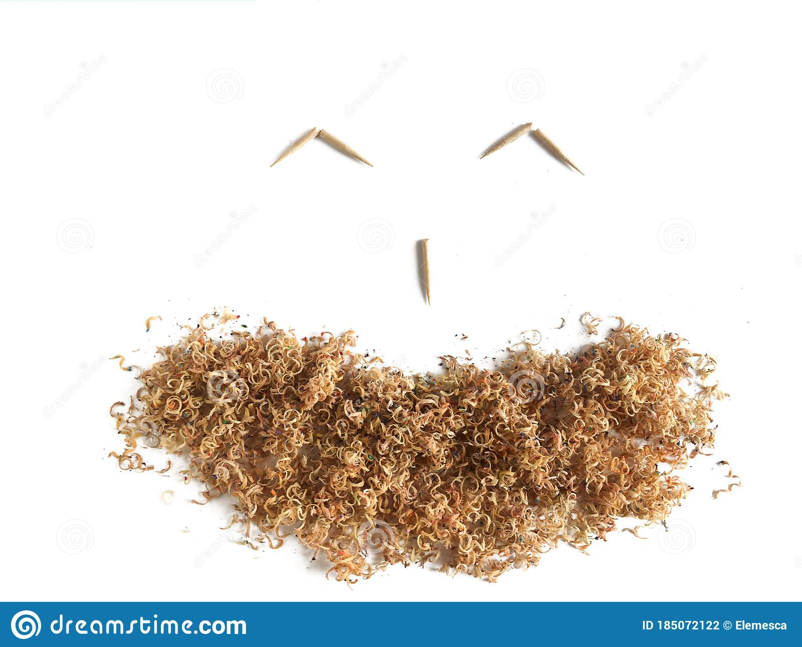 smily face made out of pencil shavings isolated on white background stock photo image of sticks recycle 185072122