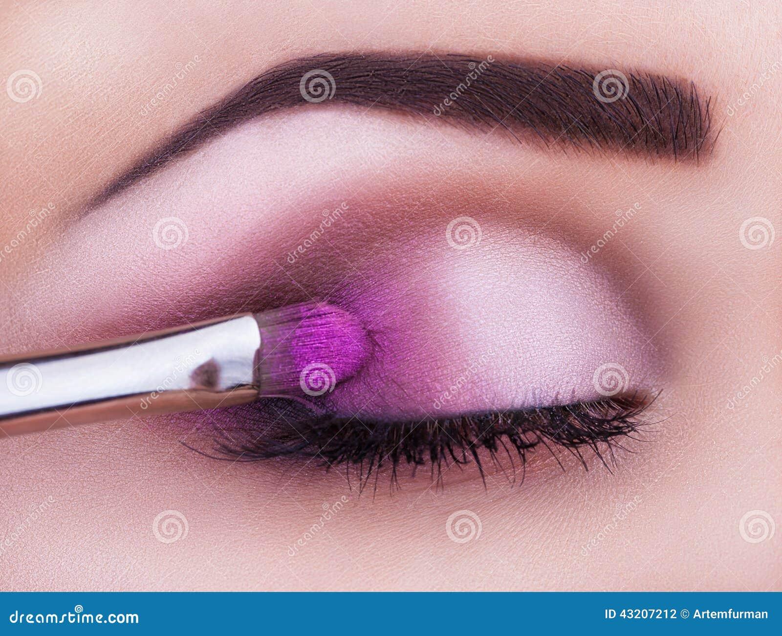 Download Smink arkivfoto. Bild av öga, mode, härlig, makeup, caucasian - 43207212