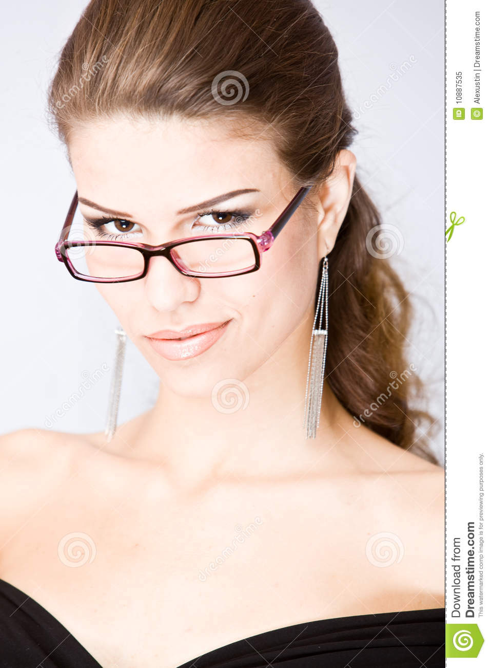 Smirking young woman stock image. Image of caucasian ...