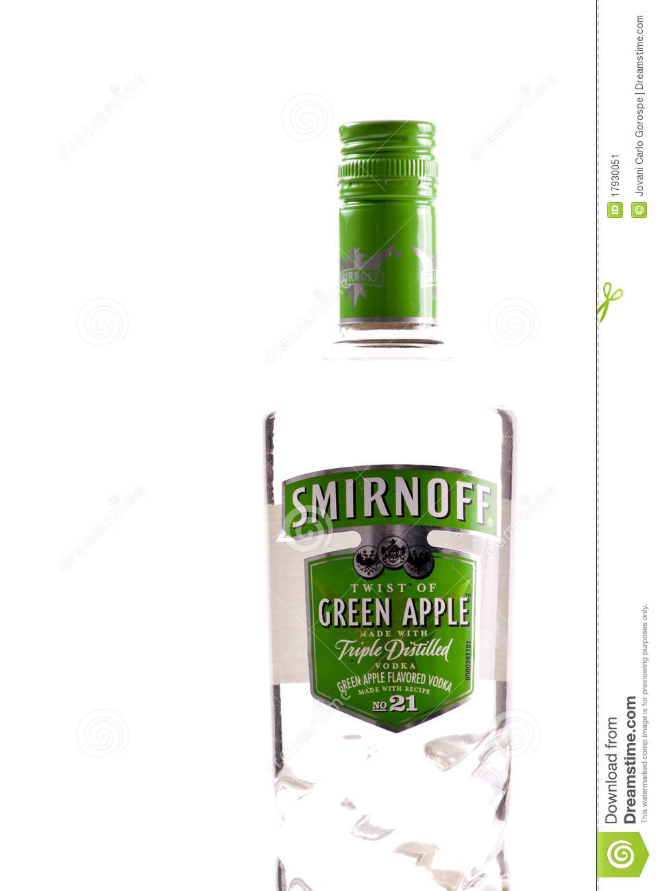 smirnoff green apple vodka editorial photo image 17930051
