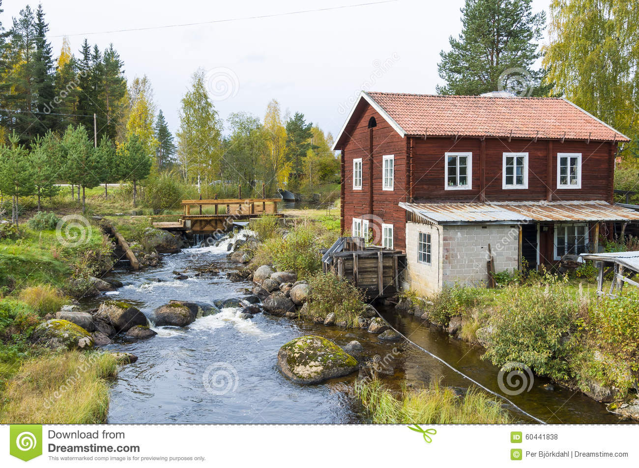 Smithy At Small River Sweden Stock Photo Image 60441838