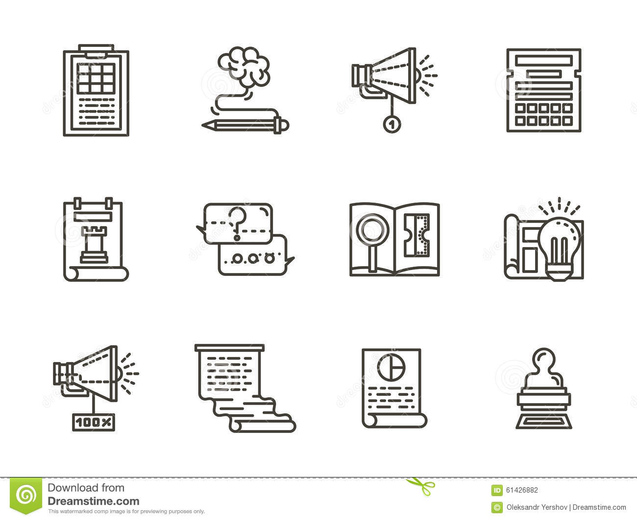 Smm flat line icons collection stock illustration illustration smm flat line icons collection biocorpaavc