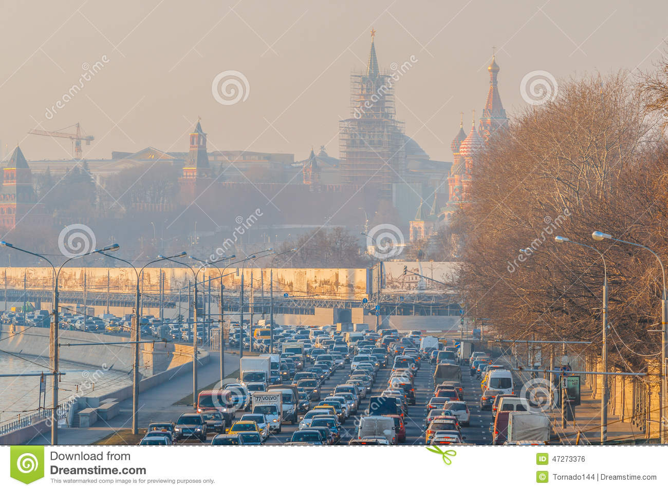 Smog in Moscow, Russia. Thursday, Nov. 20, 2014. Weather: Sun, s