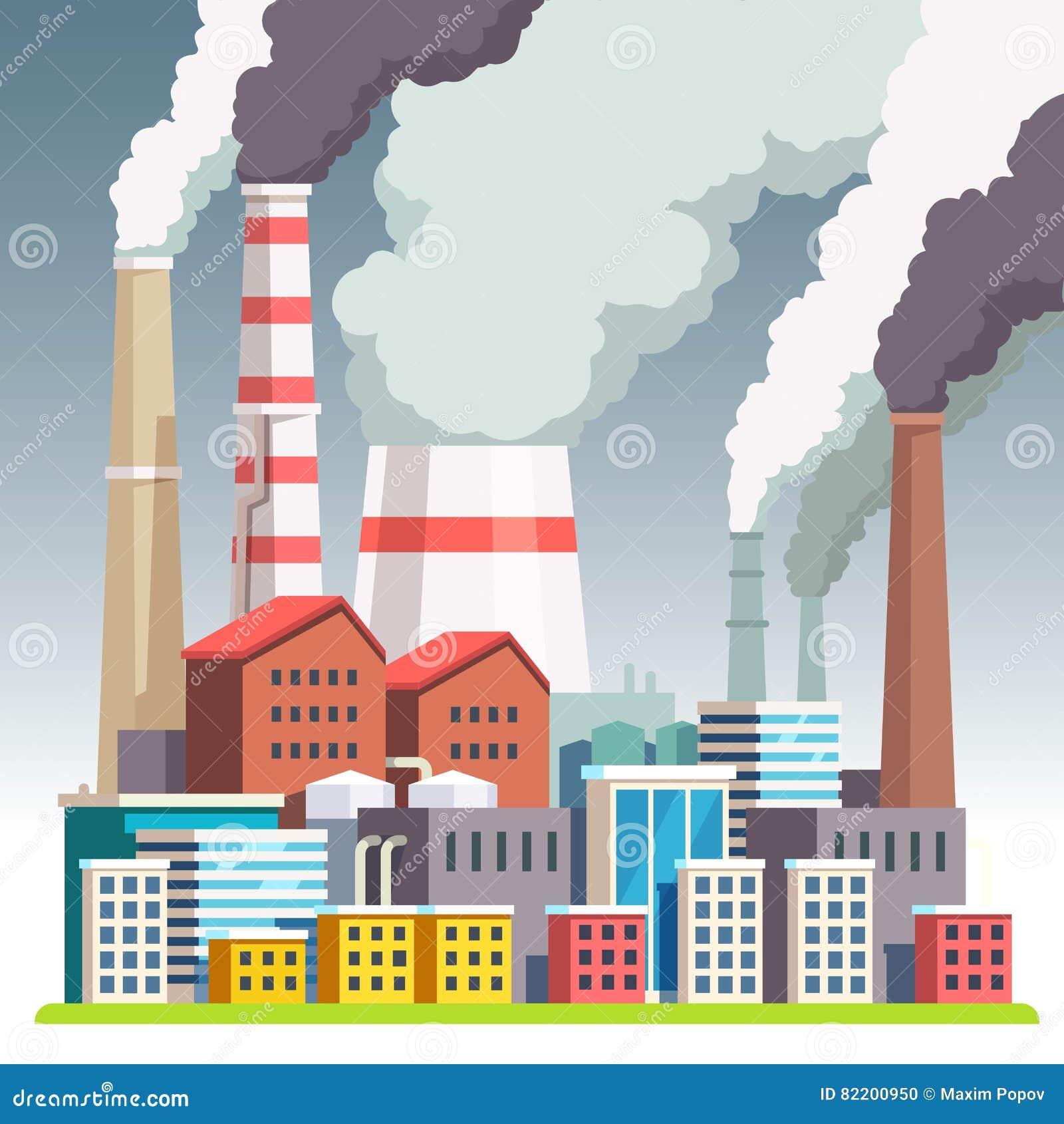 Smog zanieczyszczający miastowy krajobraz
