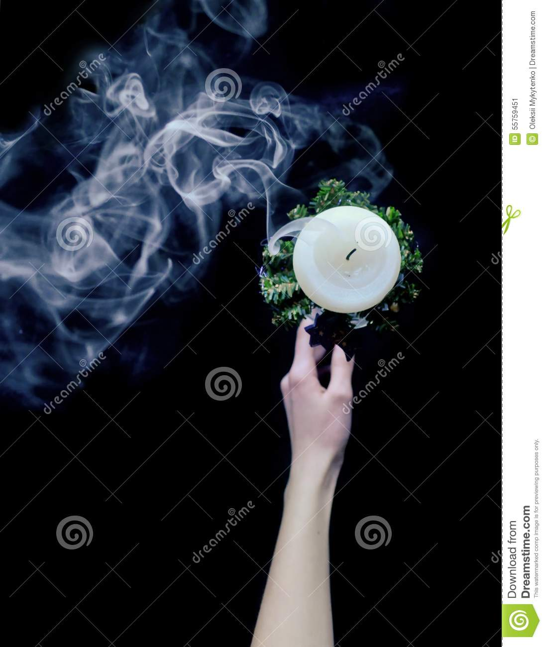 Smoke from candles