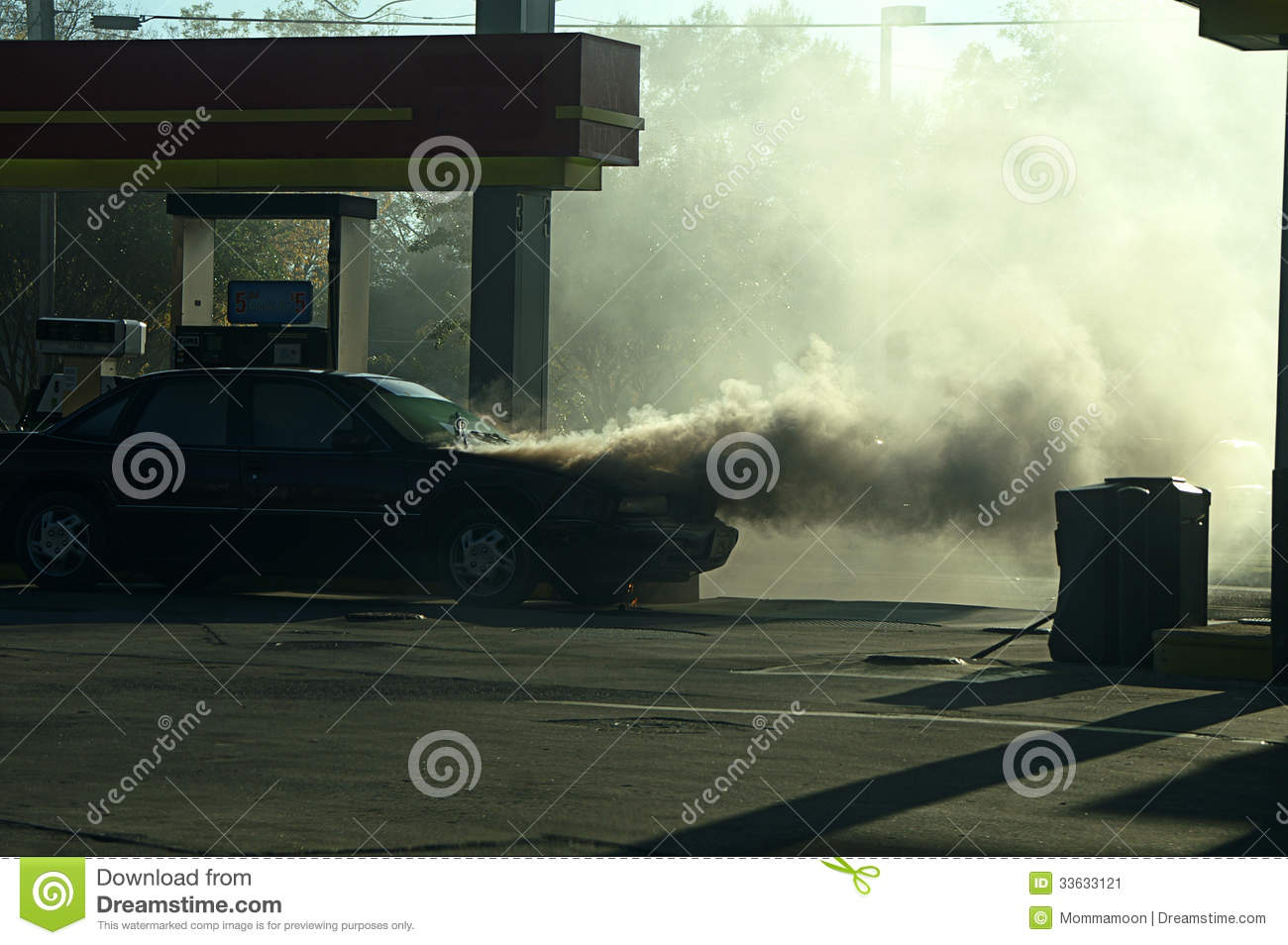 Smoke From Car Fire Stock Image Image Of Automobile