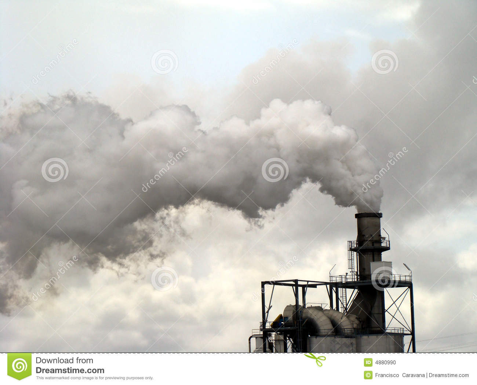 Smoke Chimney Pollution Stock Photo Image 4880990