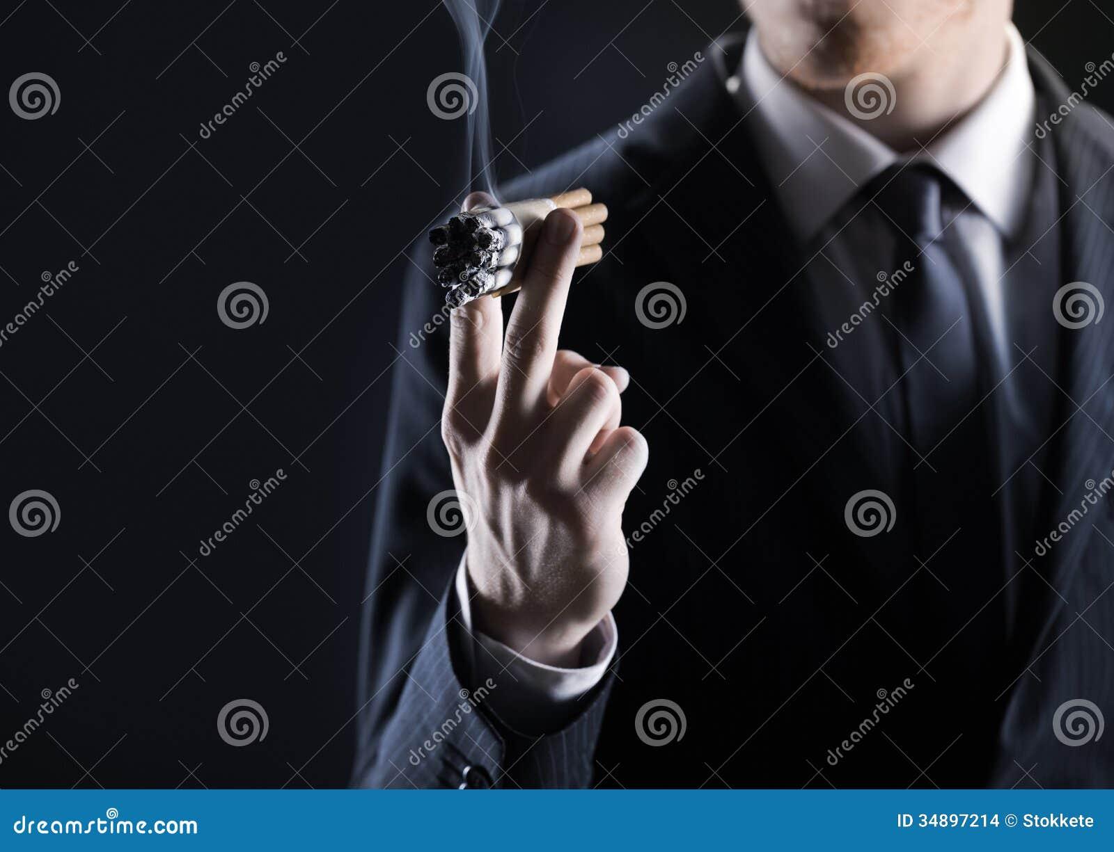Men smoking cigarettes work!