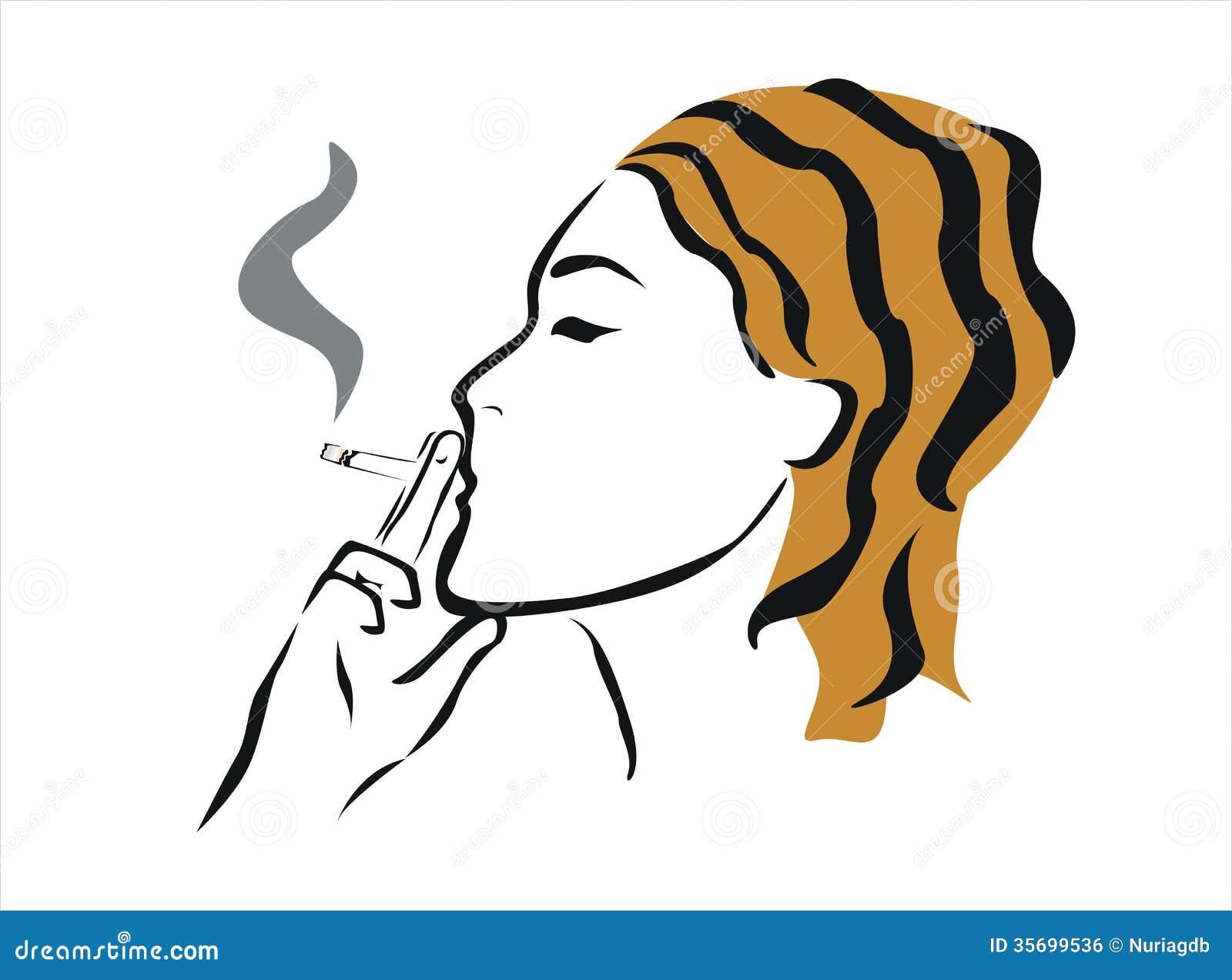 drawings of naked girl smoking