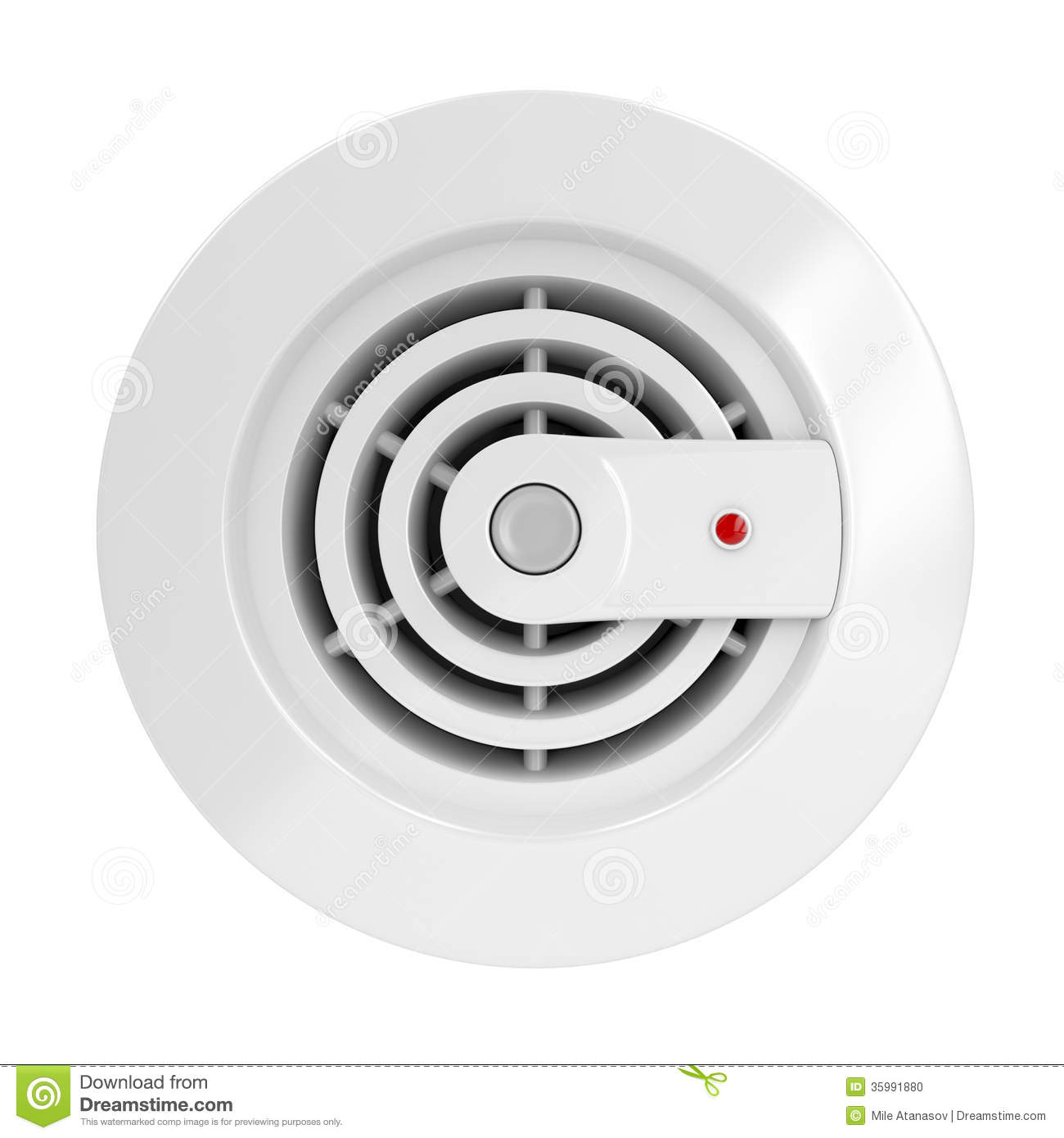 Cartoon Smoke Detector Smoke and fire detector stock