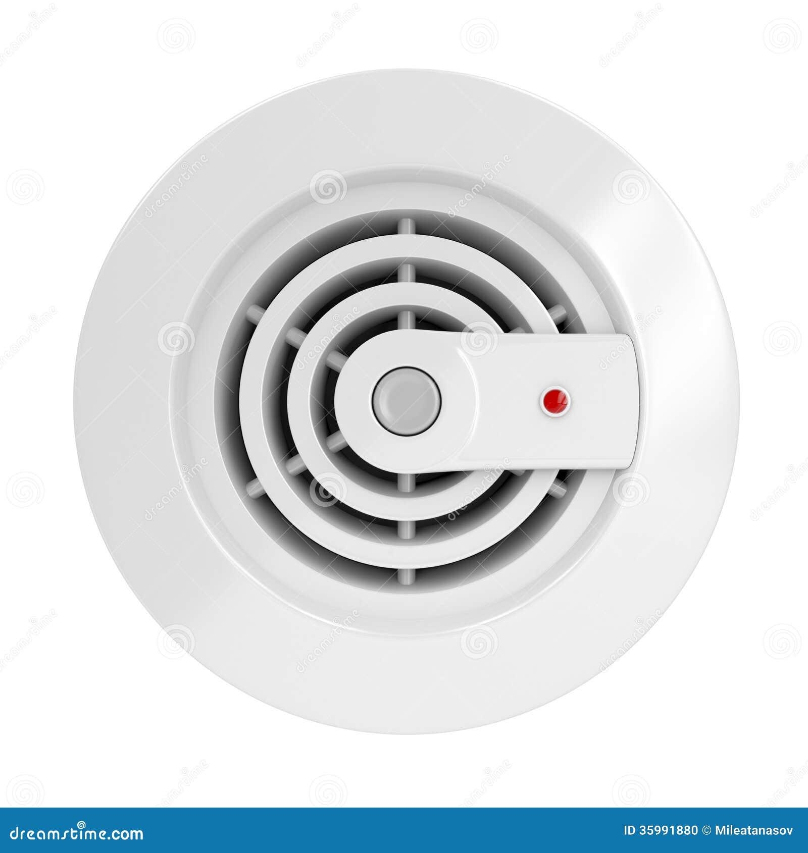Cartoon Smoke Detector Smoke and fire detector stock