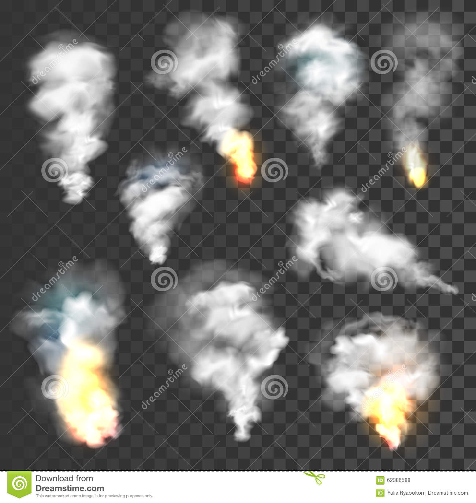 Smoke and fire set