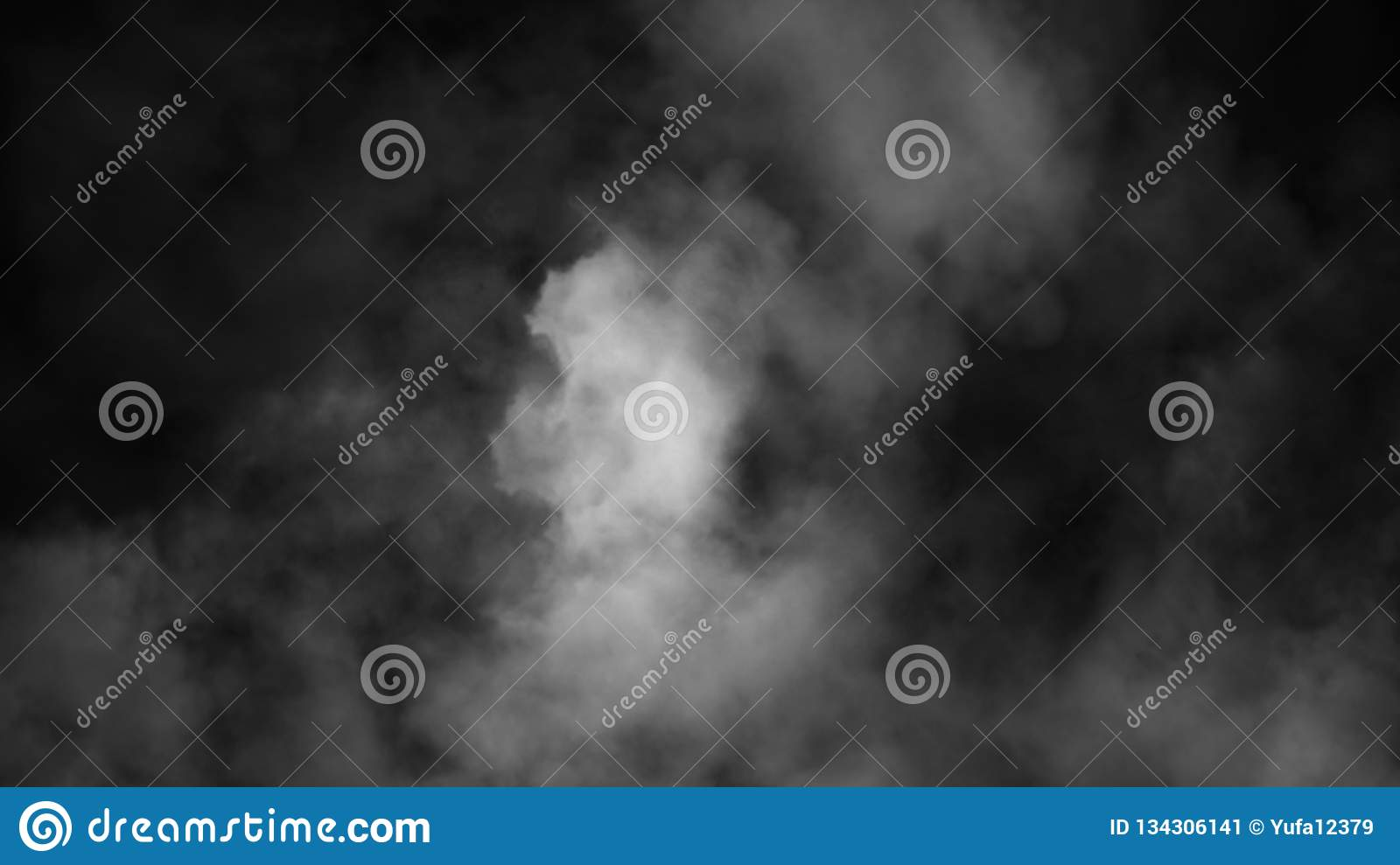 Fog And Mist Effect On Black Background  Smoke Texture Stock