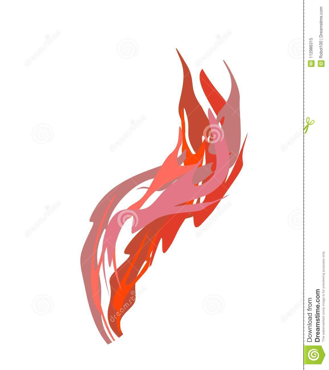 Smoke red Acidic isolated. Chemical evaporation. Vector illustration