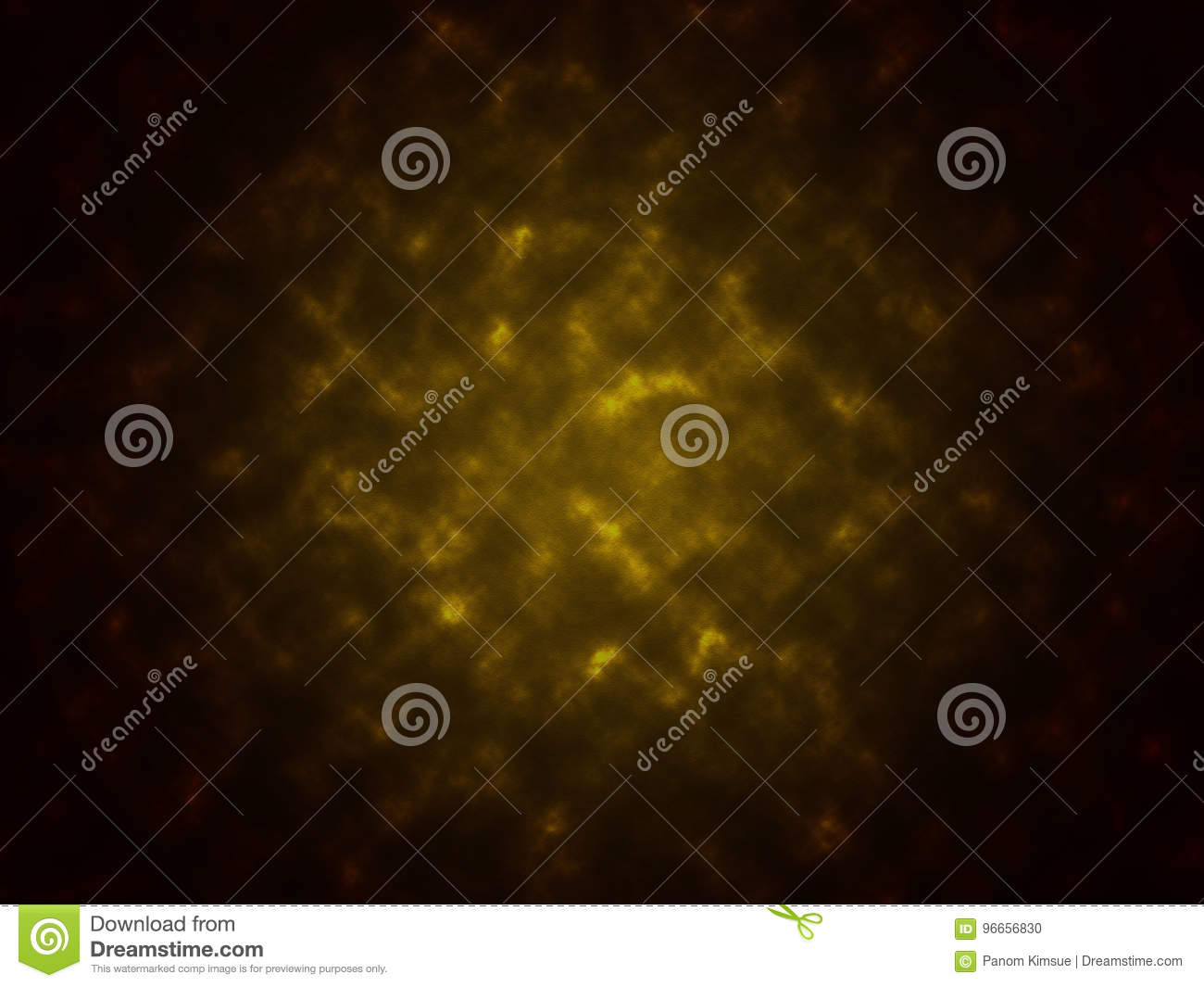 Smoke texture abstract black and yellow color background
