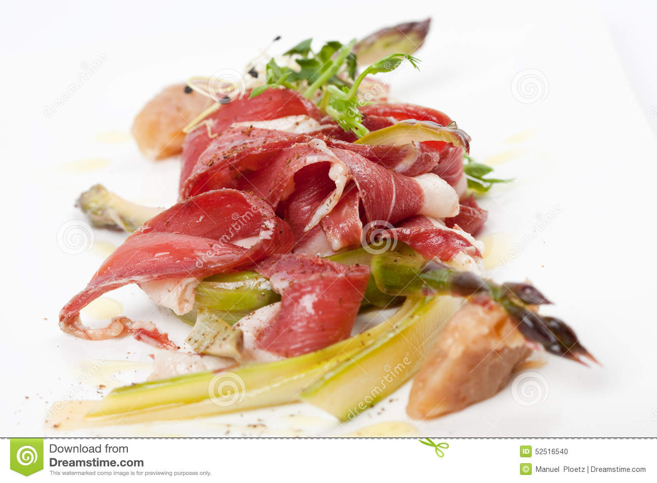 Smoked Duck Breast With Marinated Green Asparagus And ...