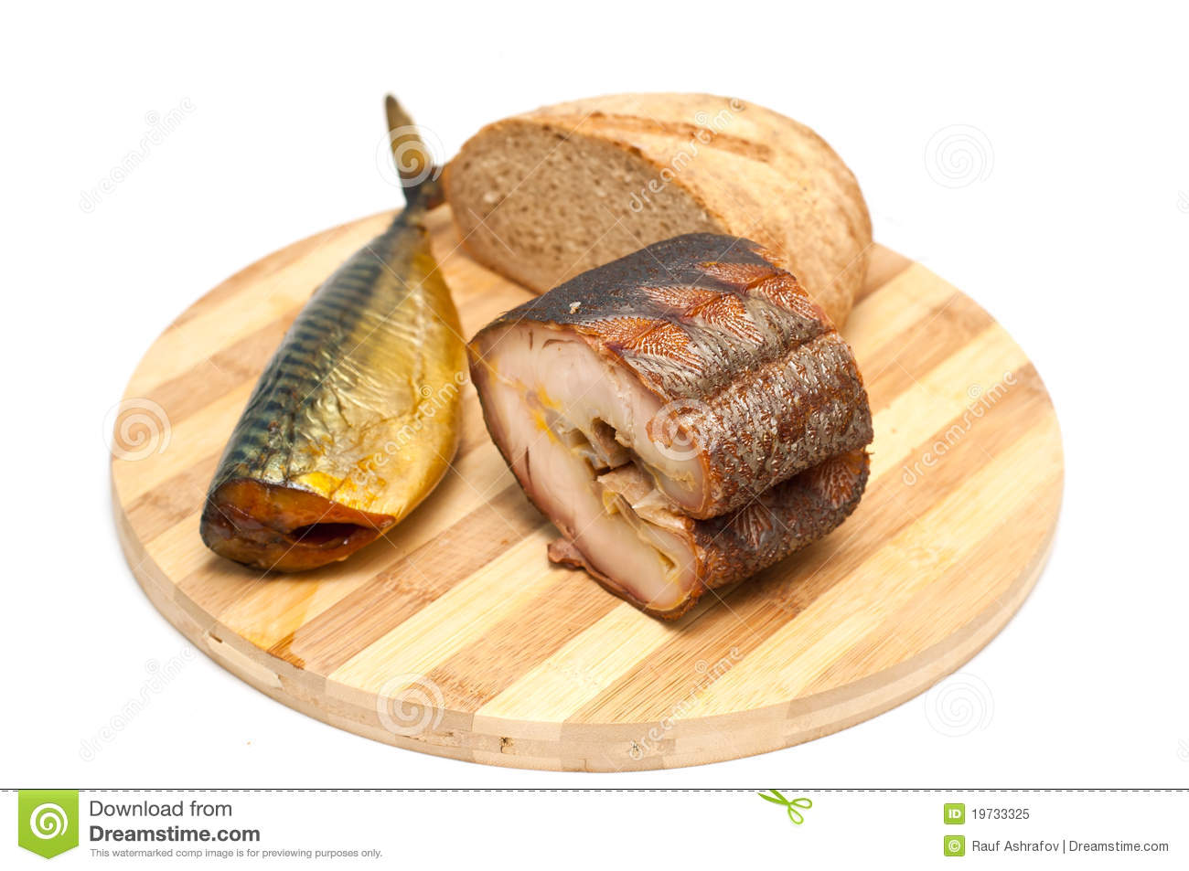Smoked fish and bread royalty free stock photo image for How to bread fish