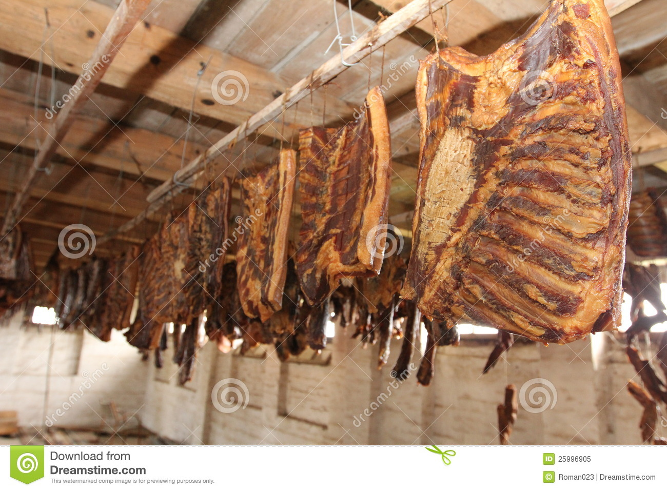 Smoked meat bacon in a smoke house royalty free stock photo image 25996905 - How to smoke meat ...