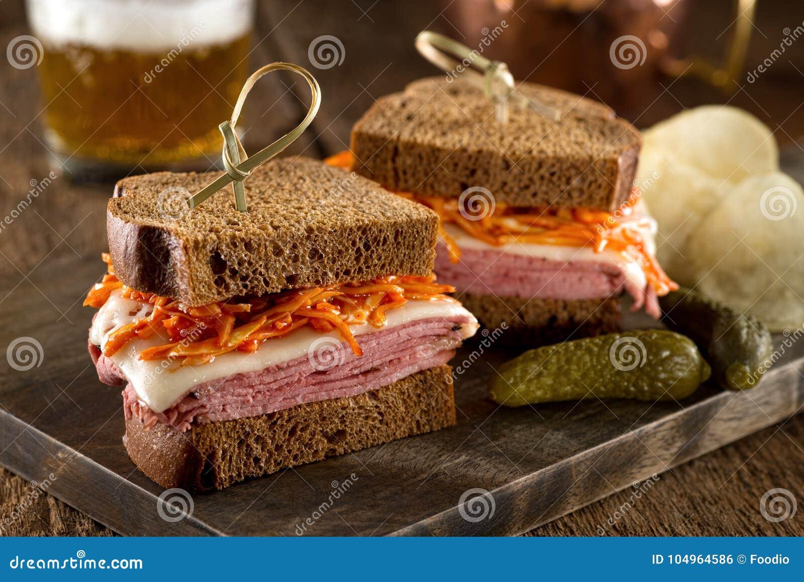 Smoked Meat on Rye Sandwich