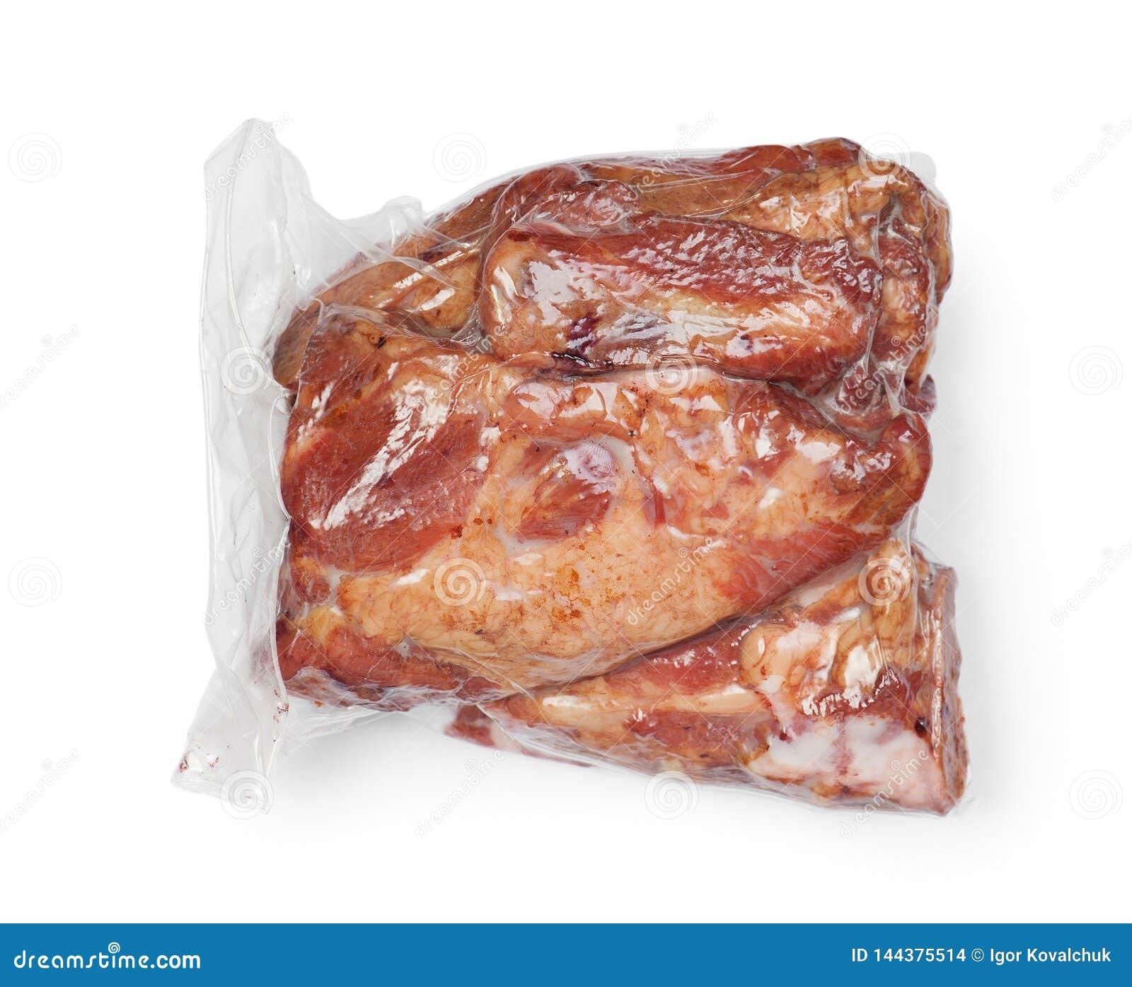 Smoked pork meat in vacuum package