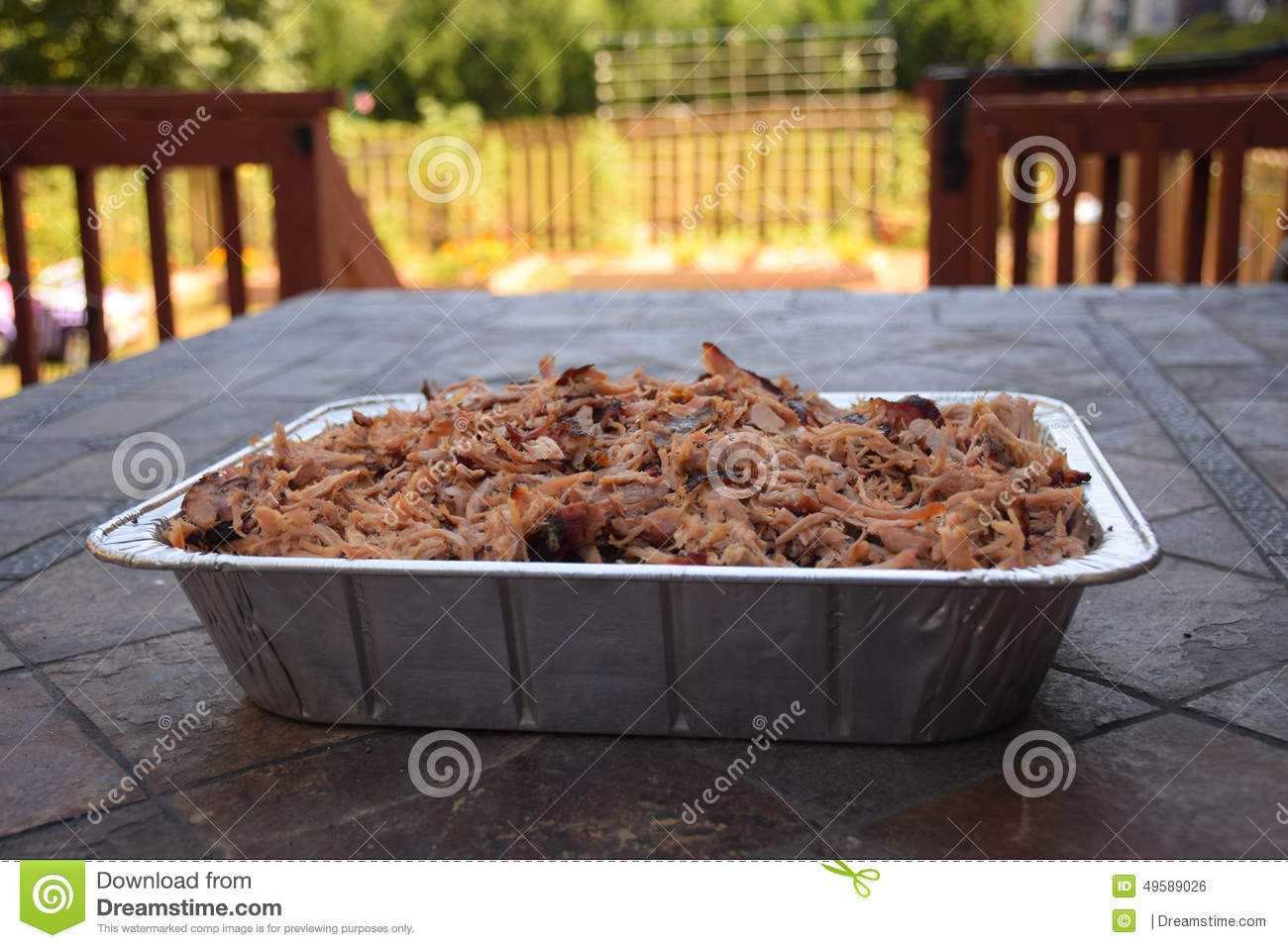 Pulled Pork Kamado.Smoked Pulled Pork Cooked Over Kamado Grill Stock Photo Image Of