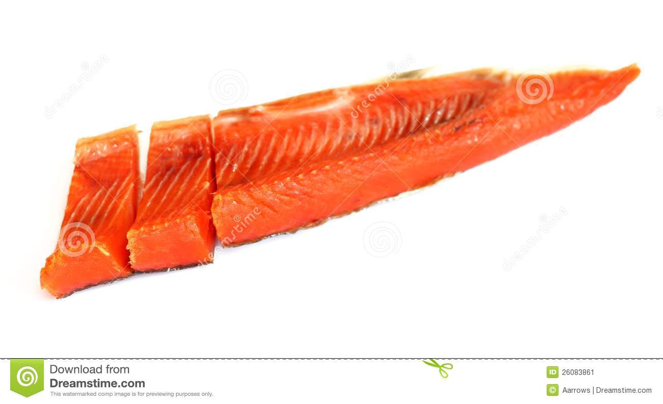 Smoked red fish fillet over white stock image image for Red fish fillet