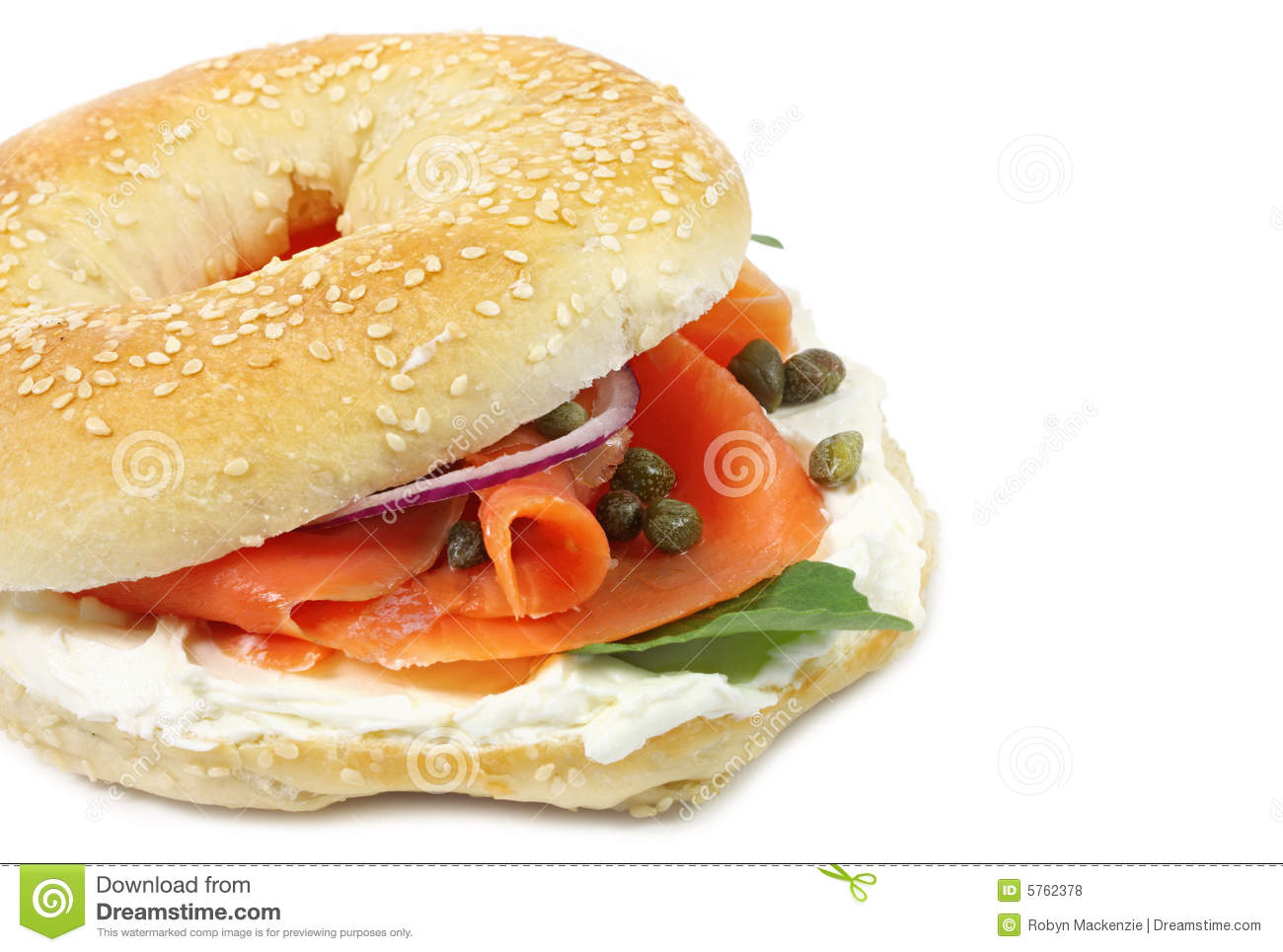 smoked salmon bagel stock photo image of jewish baked 5762378 rh dreamstime com Funny Bagels Coffee and Bagels Clip Art